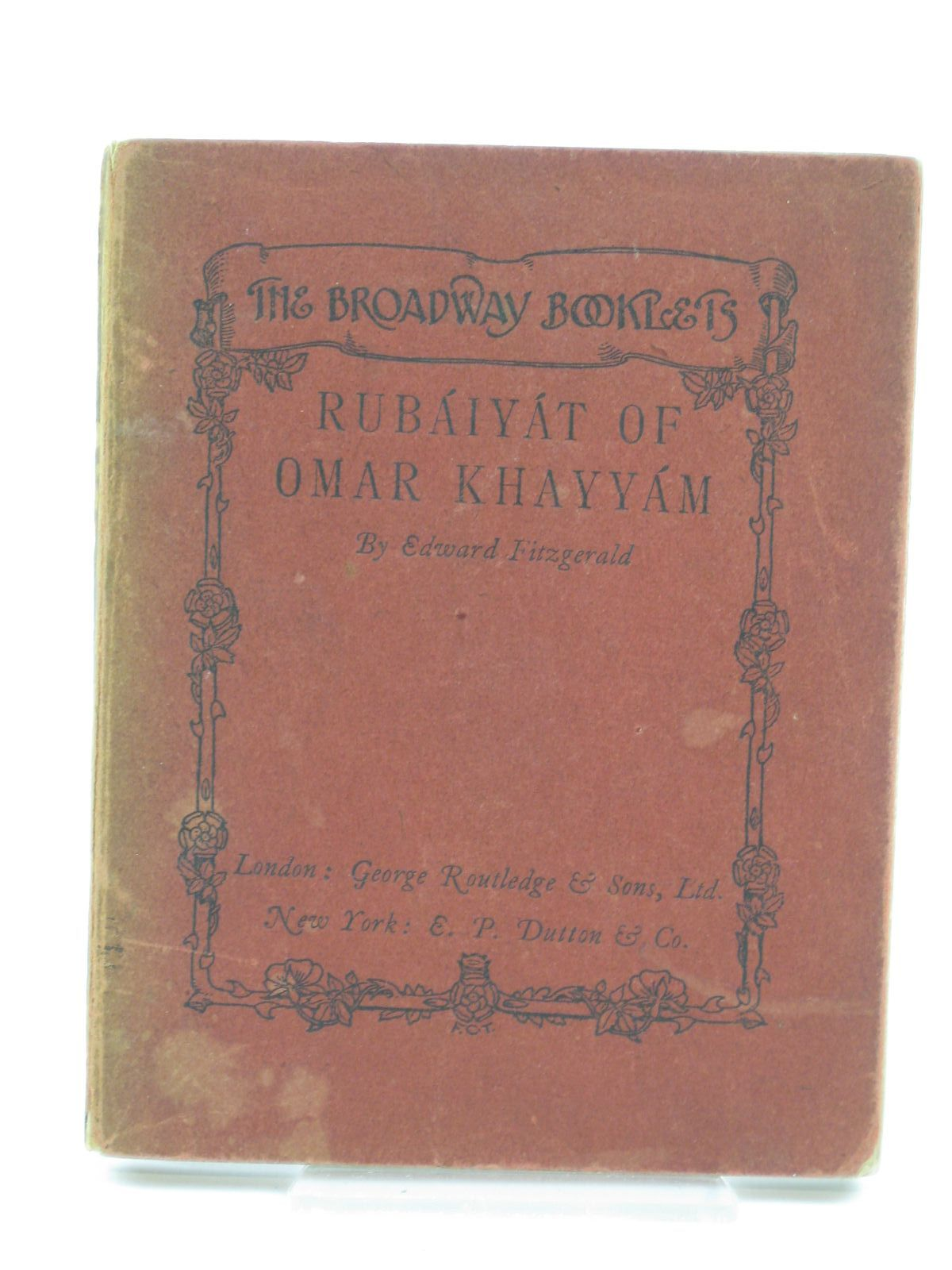 Photo of RUBAIYAT OF OMAR KHAYYAM written by Fitzgerald, Edward illustrated by King, Jessie M. published by George Routledge & Sons Ltd. (STOCK CODE: 1406384)  for sale by Stella & Rose's Books