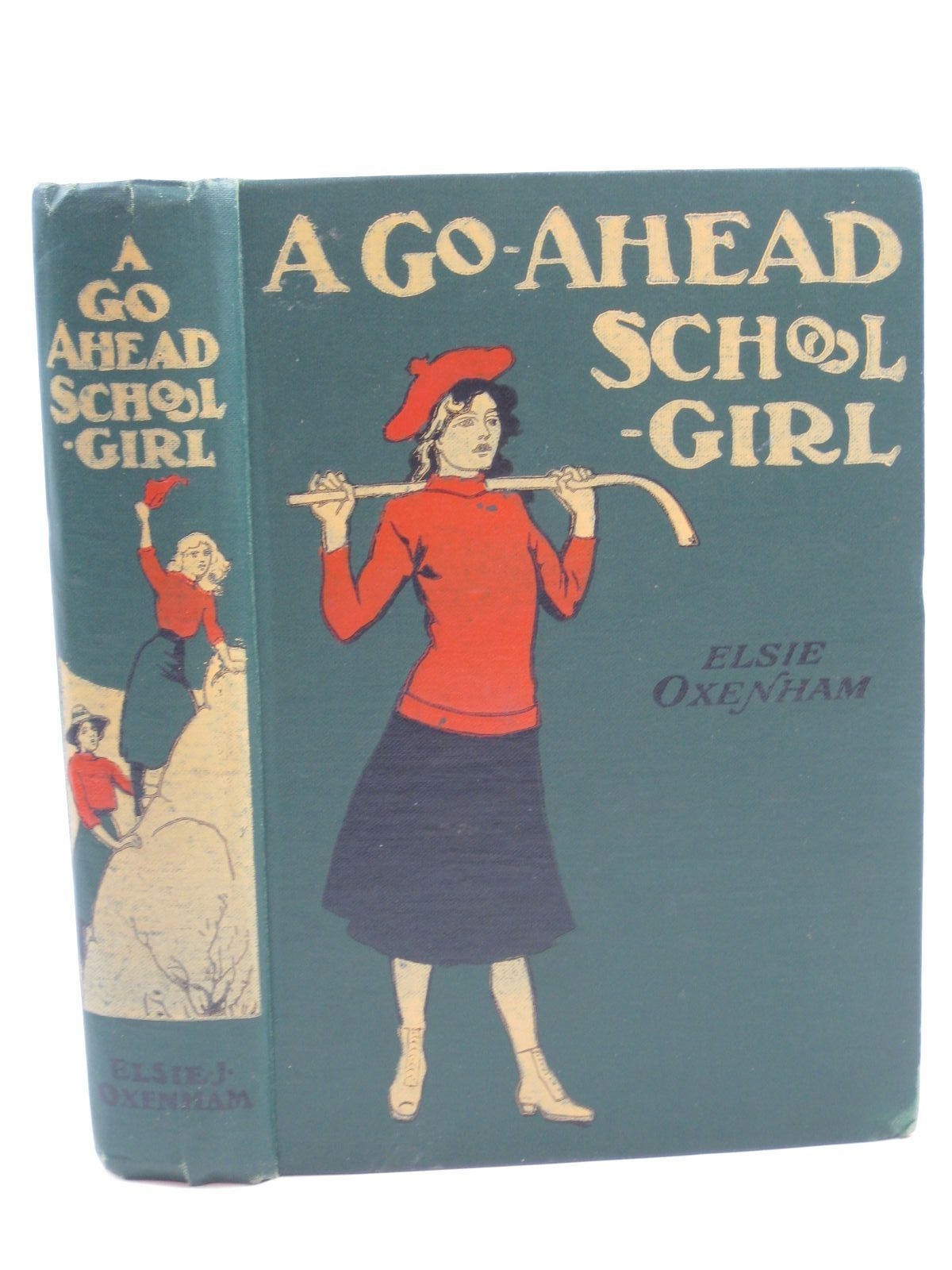 Photo of A GO-AHEAD SCHOOLGIRL written by Oxenham, Elsie J. illustrated by Earnshaw, Harold C. published by W. & R. Chambers Limited (STOCK CODE: 1406747)  for sale by Stella & Rose's Books