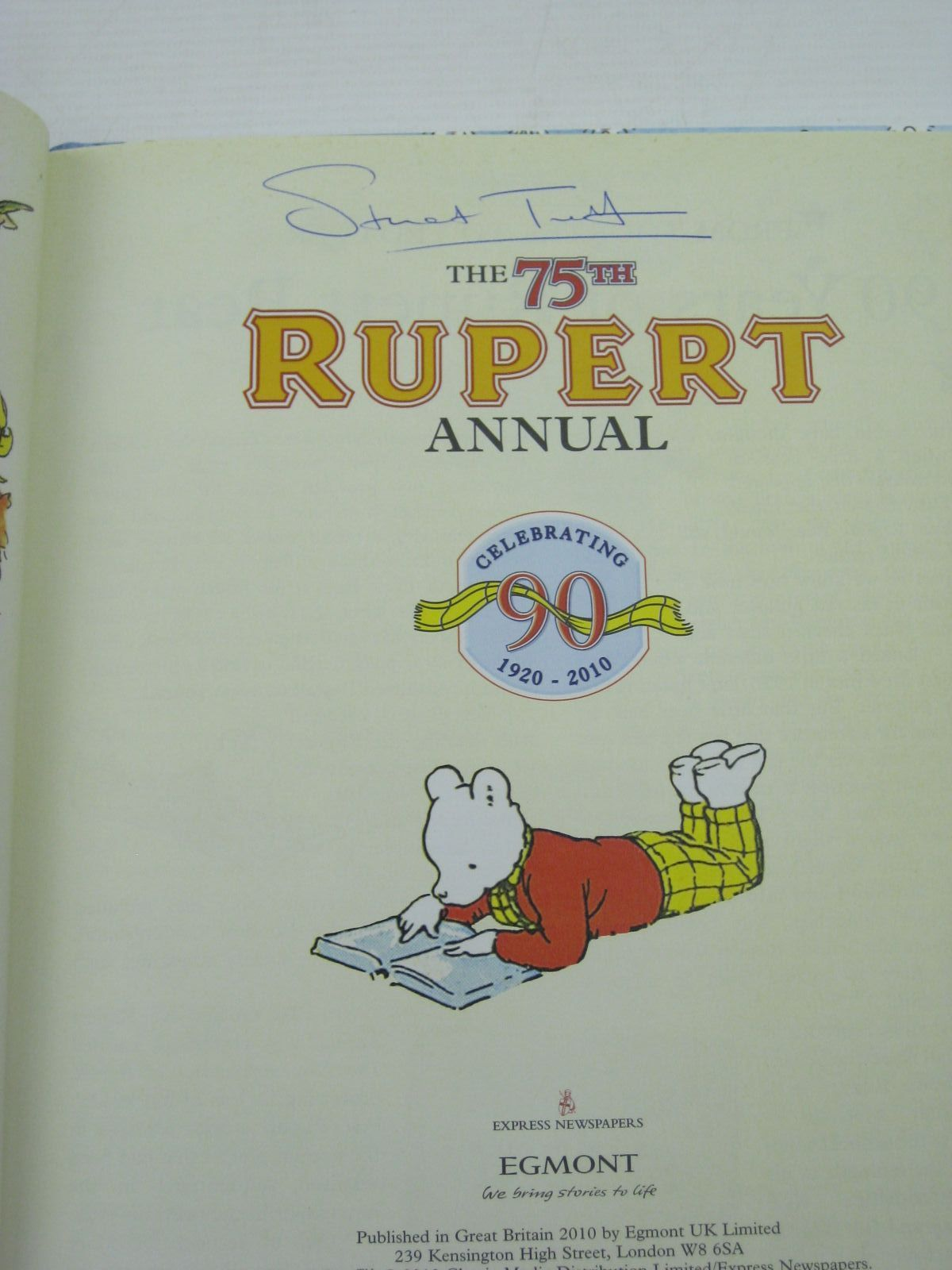 Photo of RUPERT ANNUAL 2010 written by Trotter, Stuart published by Egmont Books Ltd. (STOCK CODE: 1406850)  for sale by Stella & Rose's Books