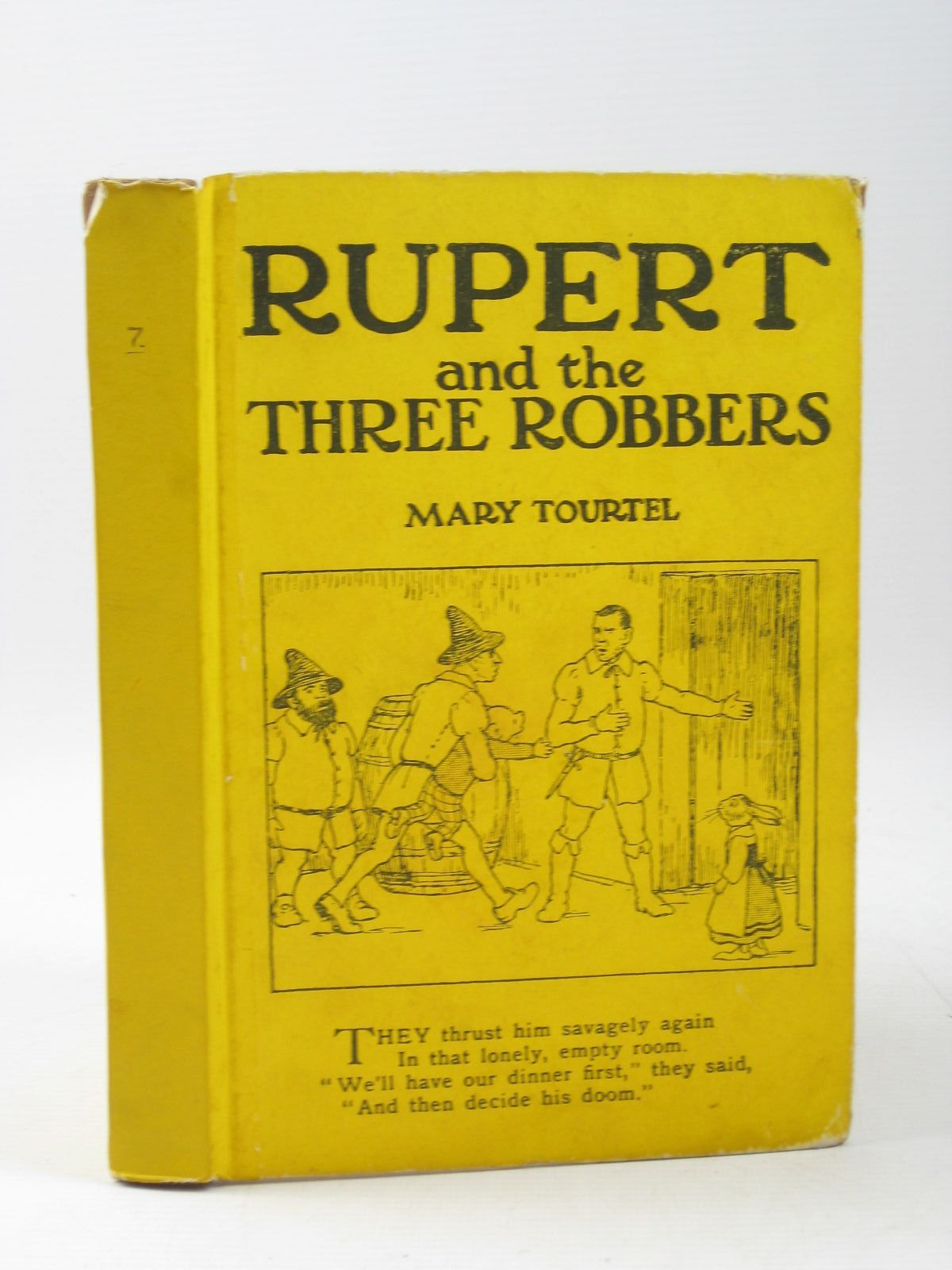 Photo of RUPERT AND THE THREE ROBBERS - RUPERT LITTLE BEAR LIBRARY No. 7 written by Tourtel, Mary illustrated by Tourtel, Mary published by Sampson Low, Marston & Co. Ltd. (STOCK CODE: 1503916)  for sale by Stella & Rose's Books