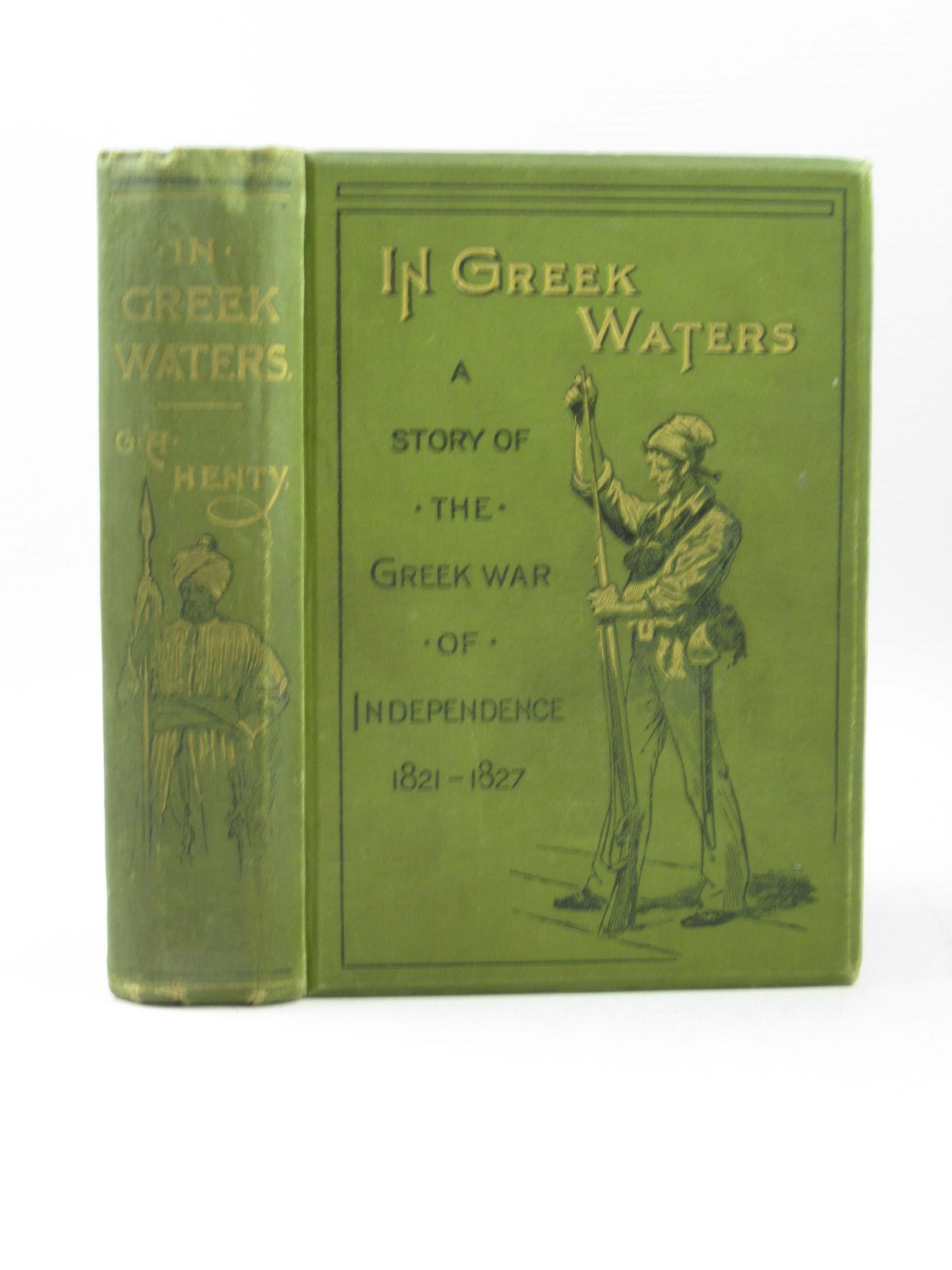 Photo of IN GREEK WATERS written by Henty, G.A. illustrated by Stacey, W.S. published by Blackie & Son Ltd. (STOCK CODE: 1504037)  for sale by Stella & Rose's Books