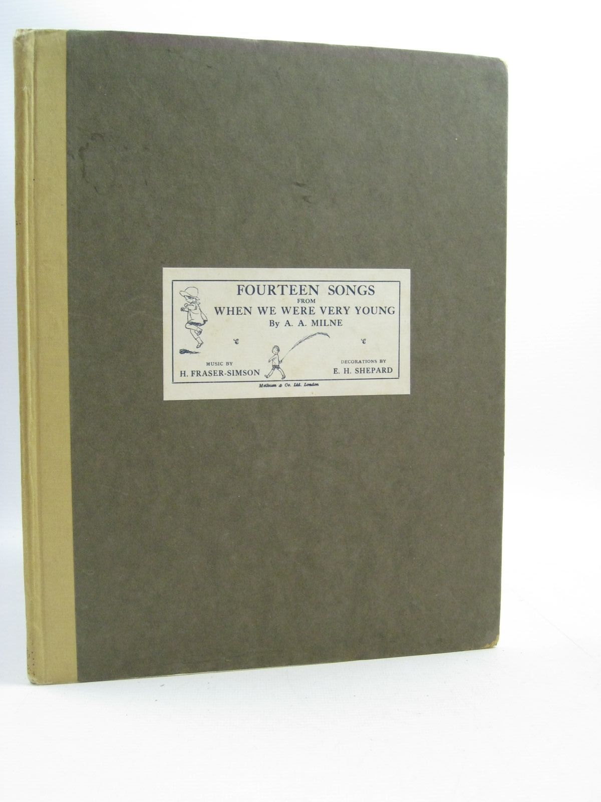 Photo of FOURTEEN SONGS FROM WHEN WE WERE VERY YOUNG written by Milne, A.A.<br />Fraser-Simson, H. illustrated by Shepard, E.H. published by Methuen & Co. Ltd., Ascherberg, Hopwood & Crew Ltd. (STOCK CODE: 1505033)  for sale by Stella & Rose's Books