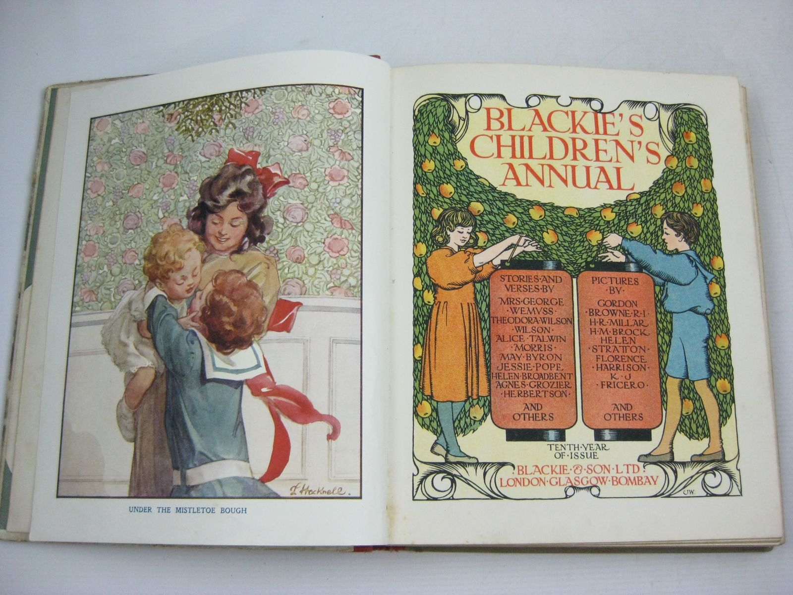 Photo of BLACKIE'S CHILDREN'S ANNUAL 10TH YEAR written by Wilson, Theodora Wilson<br />Morris, Alice Talwin<br />Pope, Jessie<br />Byron, May<br />et al, illustrated by Browne, Gordon<br />Stratton, Helen<br />Brock, H.M.<br />Harrison, Florence<br />et al., published by Blackie & Son Ltd. (STOCK CODE: 1505386)  for sale by Stella & Rose's Books