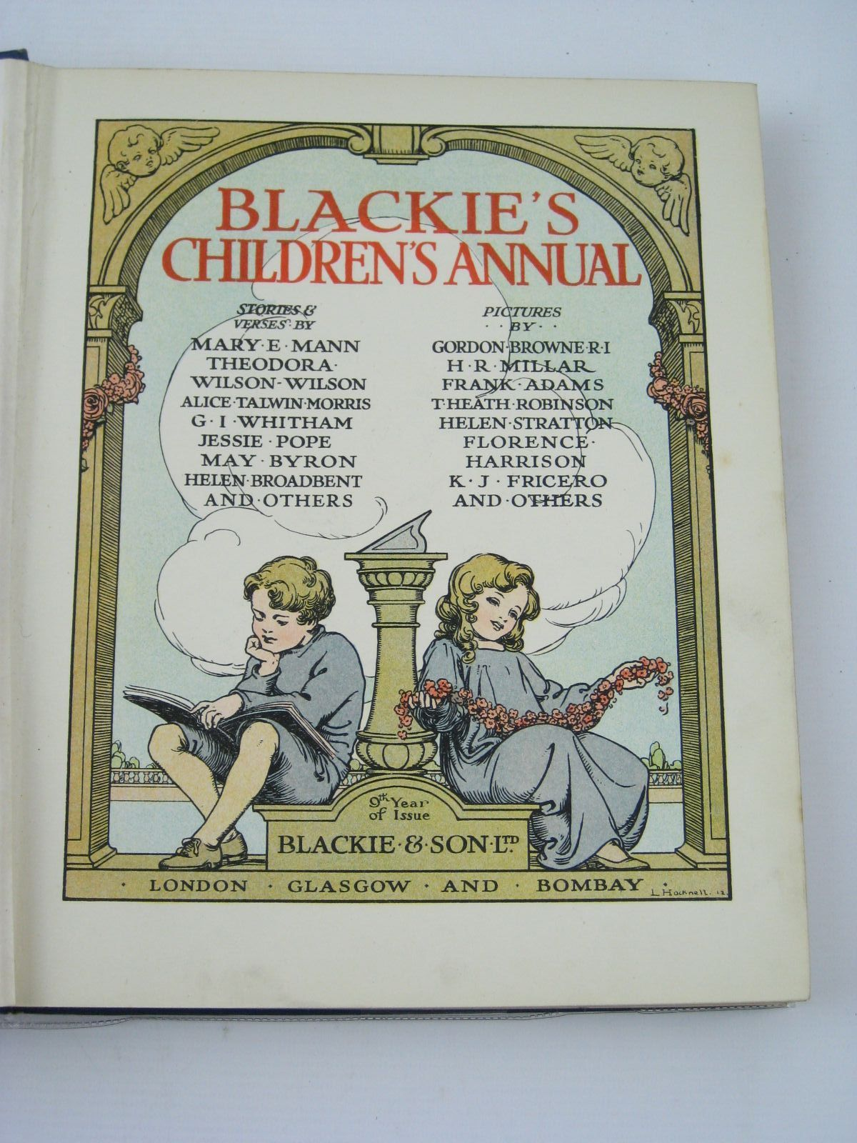 Photo of BLACKIE'S CHILDREN'S ANNUAL 9TH YEAR written by Mann, Mary E.<br />Wilson, Theodora Wilson<br />Morris, Alice Talwin<br />Pope, Jessie<br />Byron, May<br />et al, illustrated by Browne, Gordon<br />Adams, Frank<br />Robinson, T.H.<br />Harrison, Florence<br />et al., published by Blackie & Son Ltd. (STOCK CODE: 1506185)  for sale by Stella & Rose's Books
