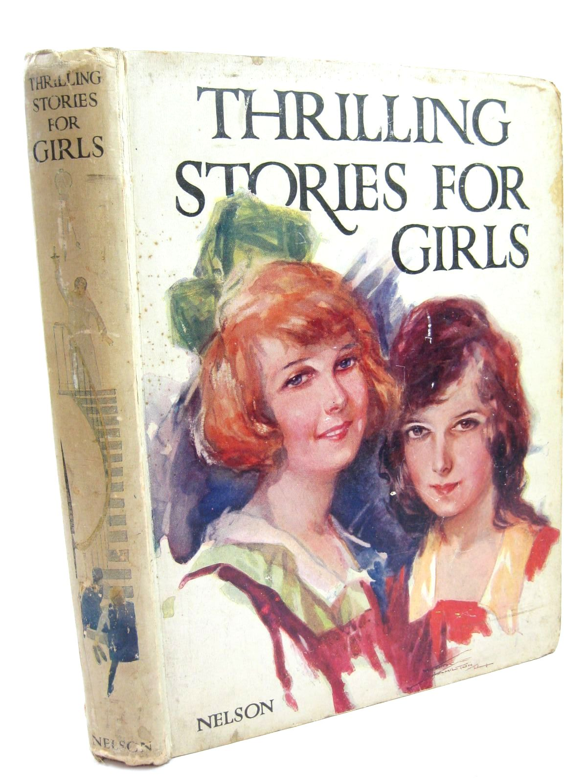Photo of THRILLING STORIES FOR GIRLS written by Avery, Harold<br />Wynne, May<br />Talbot, Ethel<br />Methley, Violet M.<br />et al,  illustrated by Cowham, Hilda<br />Cobb, Ruth<br />et al.,  published by Thomas Nelson and Sons Ltd. (STOCK CODE: 1506653)  for sale by Stella & Rose's Books