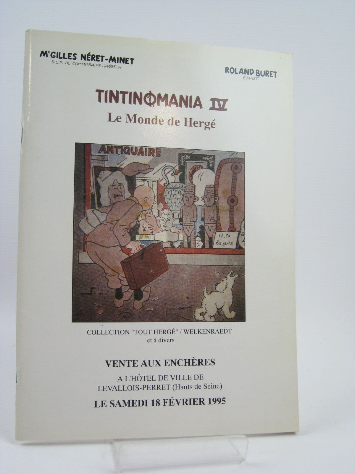 Photo of TINTINOMANIA IV LE MONDE DE HERGE AUCTION CATALOGUE (STOCK CODE: 1506826)  for sale by Stella & Rose's Books