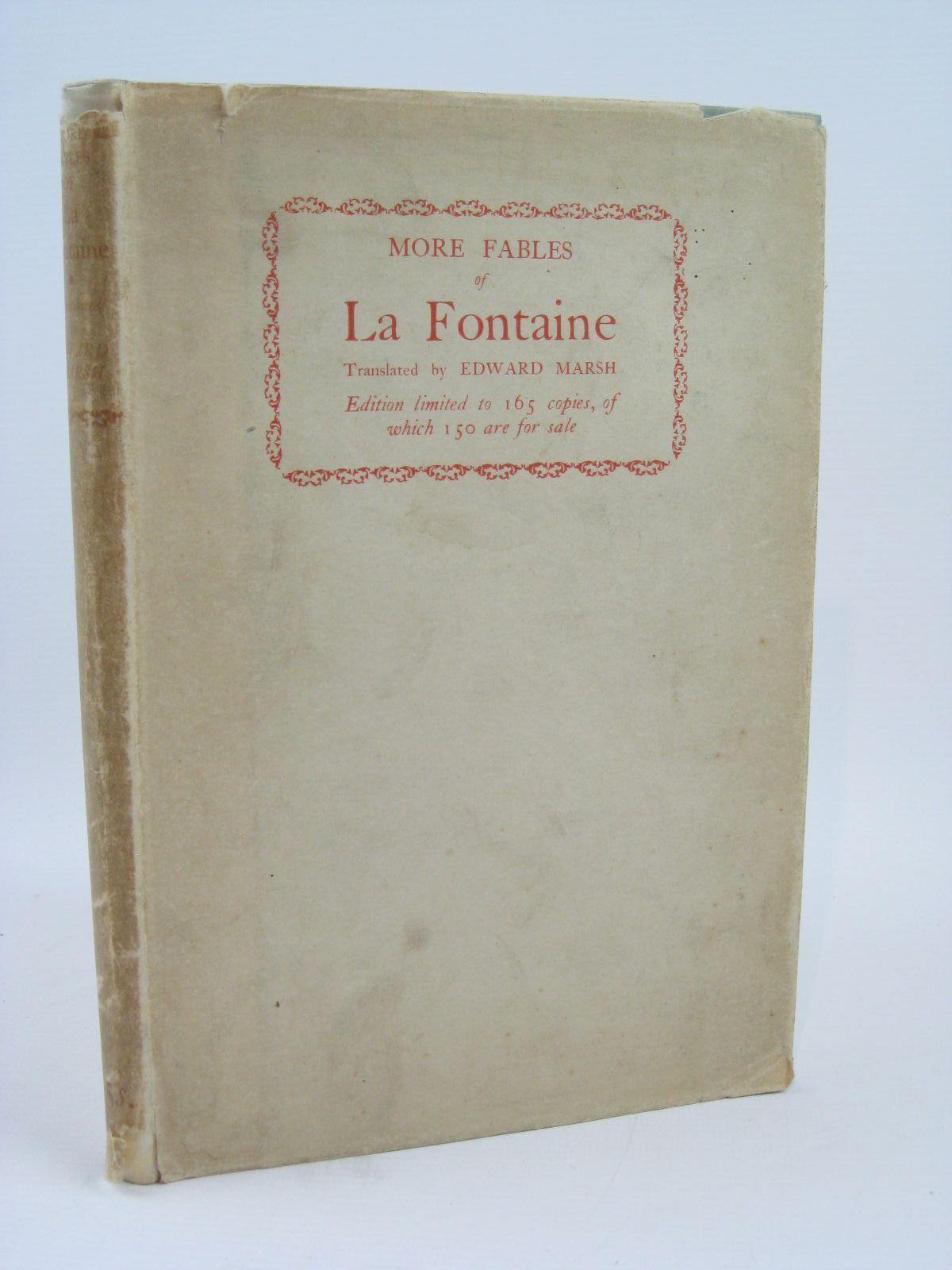 Photo of MORE FABLES OF LA FONTAINE written by De La Fontaine, Jean<br />Marsh, Edward published by William Heinemann Ltd. (STOCK CODE: 1506863)  for sale by Stella & Rose's Books