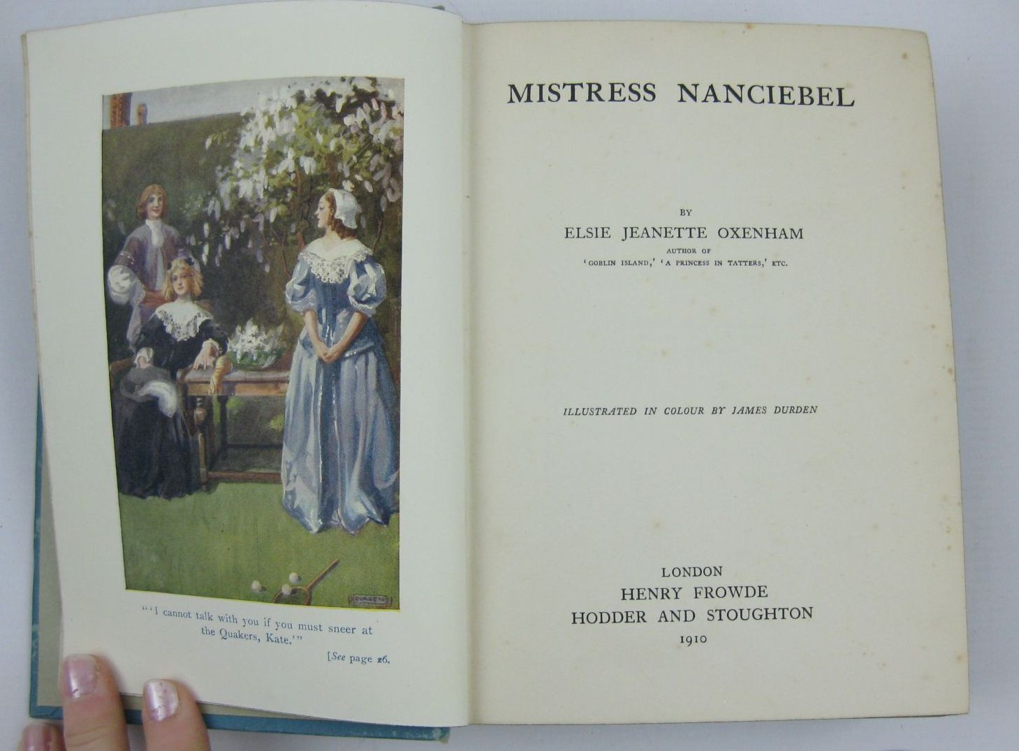 Photo of MISTRESS NANCIEBEL written by Oxenham, Elsie J. illustrated by Durden, James published by Hodder & Stoughton, Henry Frowde (STOCK CODE: 1506913)  for sale by Stella & Rose's Books
