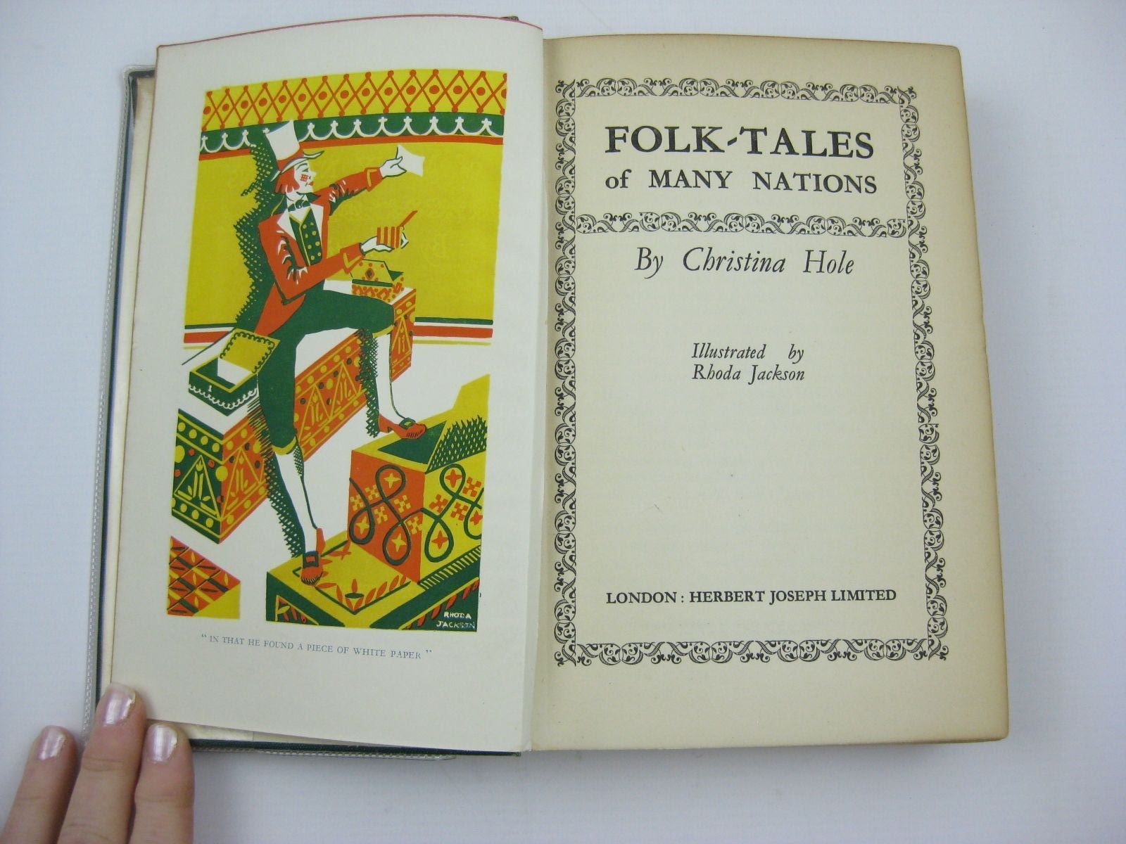 Photo of FOLK-TALES OF MANY NATIONS written by Hole, Christina illustrated by Jackson, Rhoda published by Herbert Joseph Limited (STOCK CODE: 1507053)  for sale by Stella & Rose's Books