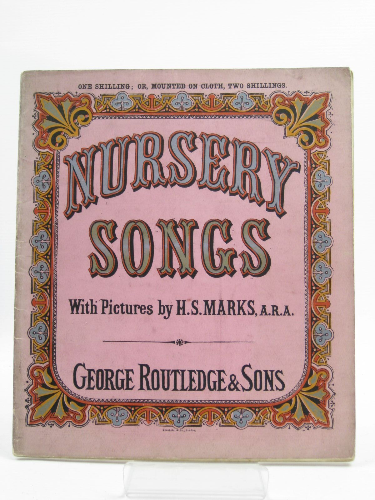 Photo of NURSERY SONGS illustrated by Marks, H.S. published by George Routledge & Sons (STOCK CODE: 1507490)  for sale by Stella & Rose's Books