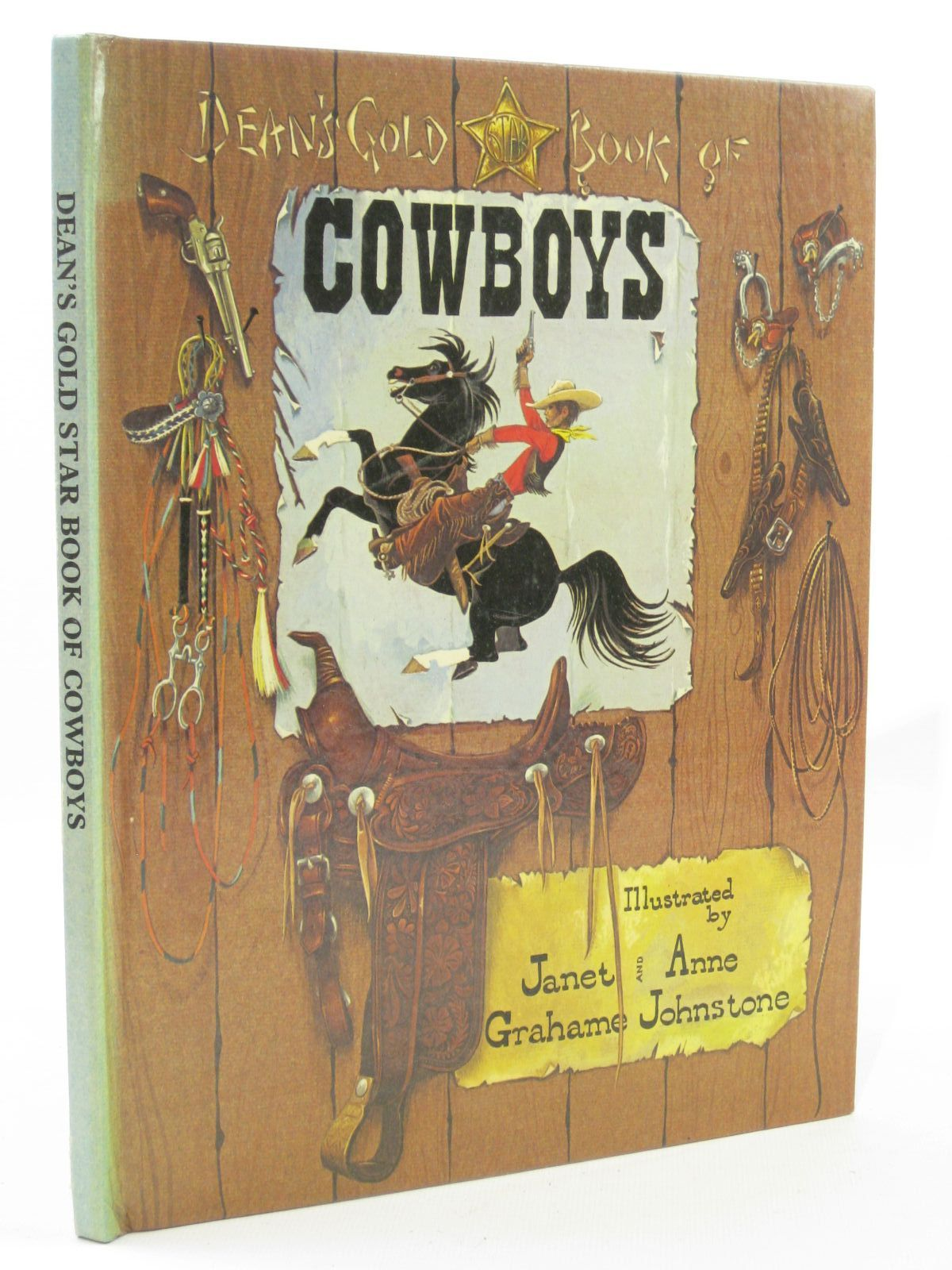 Photo of DEAN'S GOLD STAR BOOK OF COWBOYS written by Johnstone, Janet Grahame<br />Johnstone, Anne Grahame illustrated by Johnstone, Janet Grahame<br />Johnstone, Anne Grahame published by Dean & Son Ltd. (STOCK CODE: 1507635)  for sale by Stella & Rose's Books