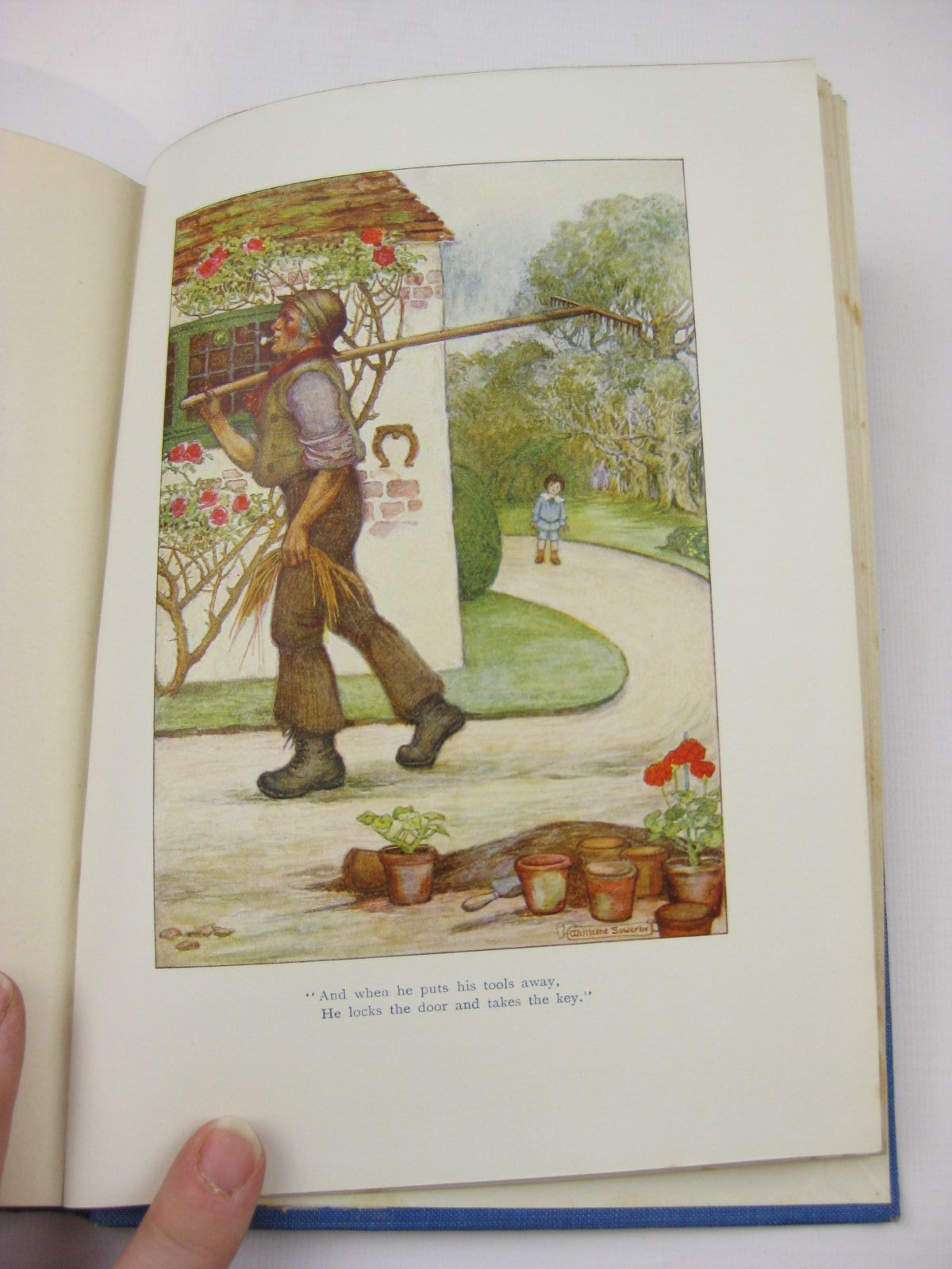 Photo of A CHILD'S GARDEN OF VERSES written by Stevenson, Robert Louis illustrated by Sowerby, Millicent published by Chatto & Windus (STOCK CODE: 1507692)  for sale by Stella & Rose's Books