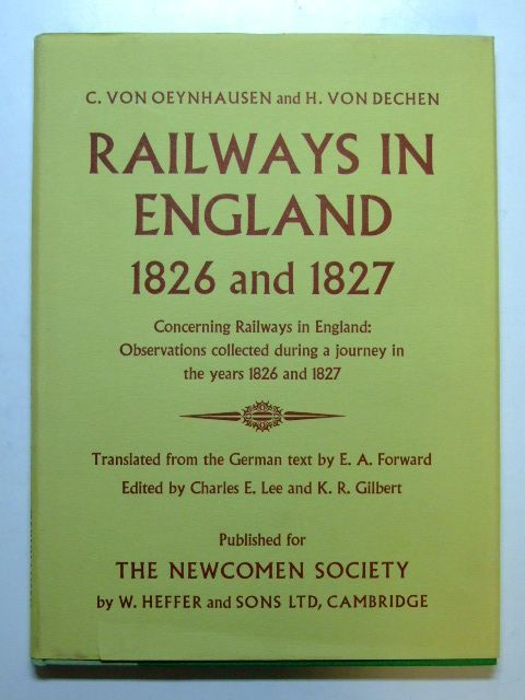 Photo of RAILWAYS IN ENGLAND 1826 AND 1827 written by Von Oeynhausen, C.<br />Von Dechen, H.<br />Forward, E.A. published by W. Heffer & Sons Ltd. (STOCK CODE: 1601152)  for sale by Stella & Rose's Books