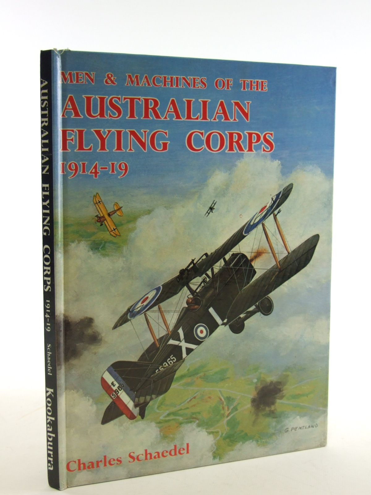 Photo of MEN & MACHINES OF THE AUSTRALIAN FLYING CORPS 1914-19 written by Schaedel, Charles illustrated by Schaedel, Charles published by Kookaburra Technical Publications (STOCK CODE: 1602837)  for sale by Stella & Rose's Books