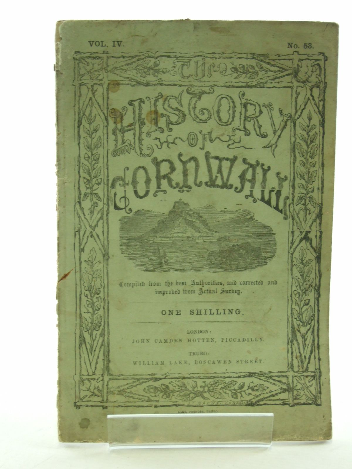 Photo of HISTORY OF CORNWALL VOL. IV No. 53 published by John Camden Hotten (STOCK CODE: 1603124)  for sale by Stella & Rose's Books
