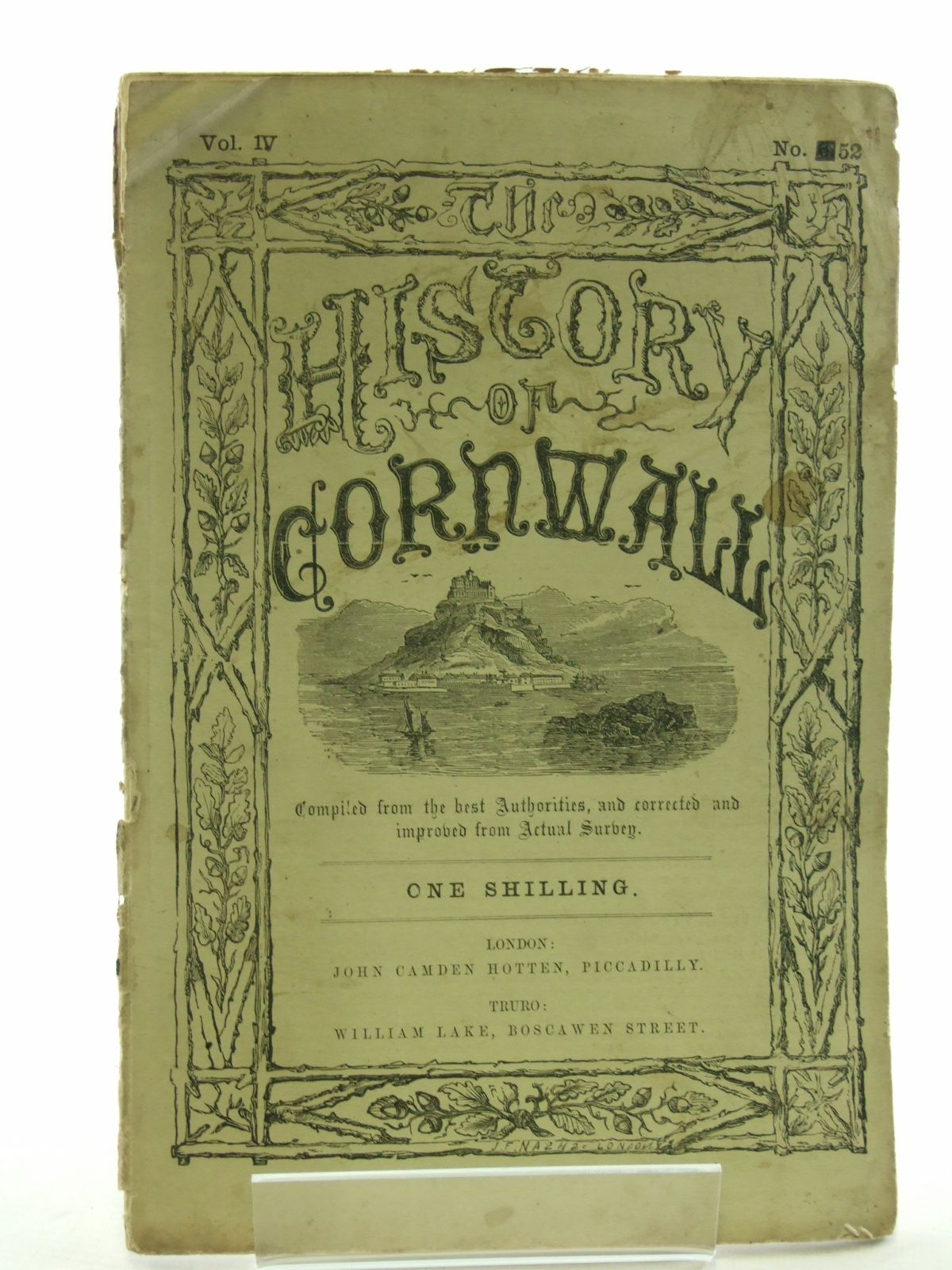 Photo of HISTORY OF CORNWALL VOL. IV No. 52 published by John Camden Hotten (STOCK CODE: 1603125)  for sale by Stella & Rose's Books