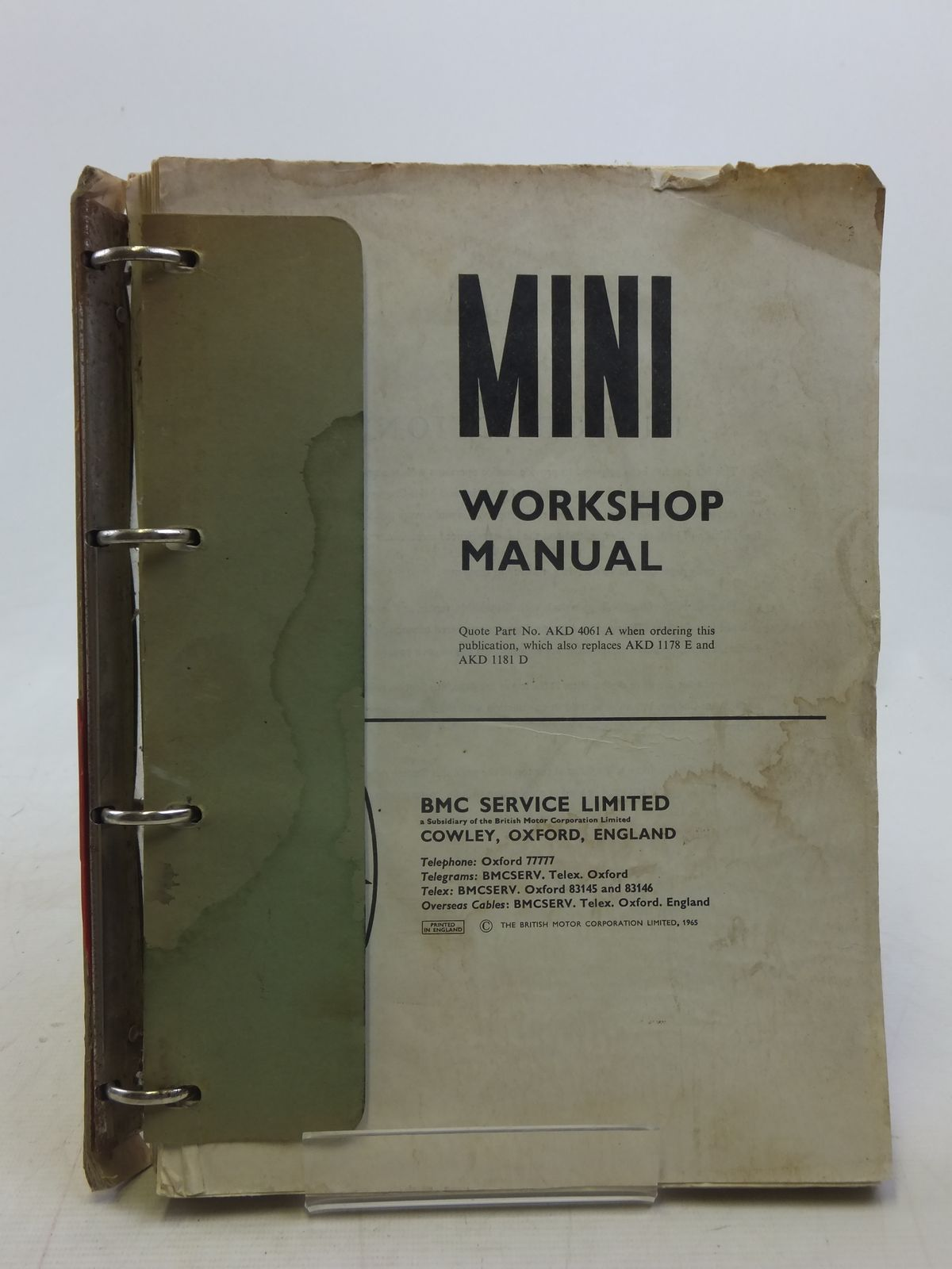 Photo of MINI WORKSHOP MANUAL published by The British Motor Corporation Limited (STOCK CODE: 1606200)  for sale by Stella & Rose's Books
