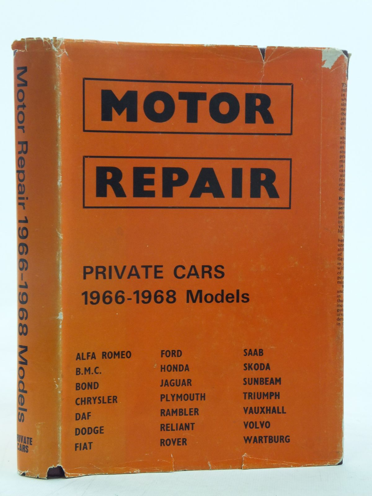 Photo of MOTOR REPAIR 1966-1968 MODELS written by McLintock, J. Dewar<br />Page, S.F. published by International Learning Systems Corporation Limited (STOCK CODE: 1606801)  for sale by Stella & Rose's Books
