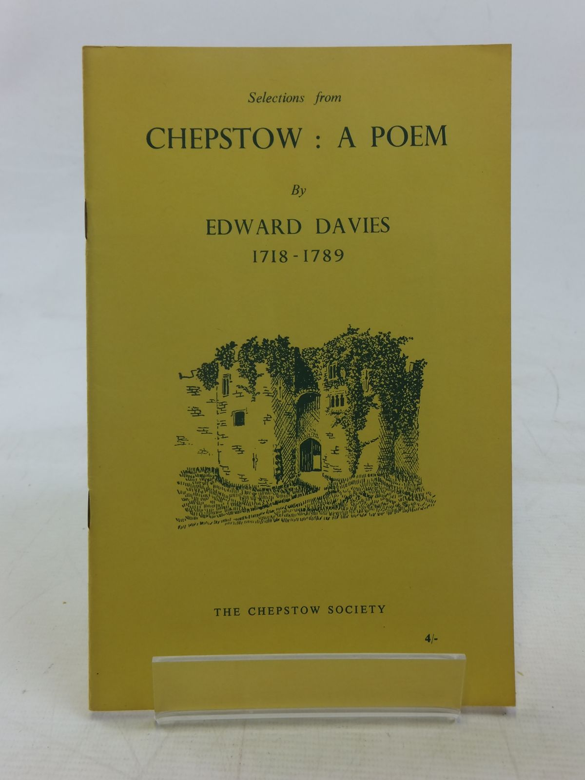 Photo of CHEPSTOW A POEM written by Davies, Edward<br />Waters, Ivor illustrated by Waters, Mercedes published by The Chepstow Society (STOCK CODE: 1607061)  for sale by Stella & Rose's Books