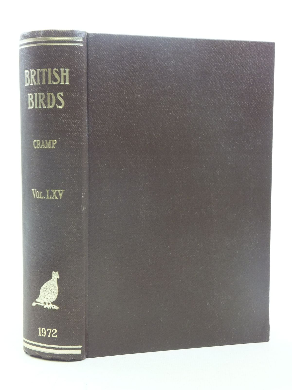 Photo of BRITISH BIRDS VOL. LXV written by Cramp, Stanley published by H.F. & G. Witherby Ltd. (STOCK CODE: 1607116)  for sale by Stella & Rose's Books