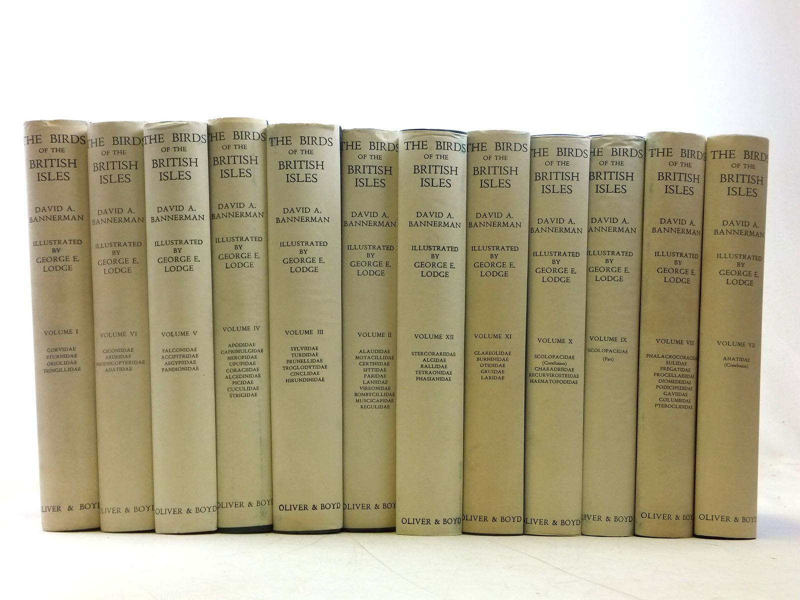 Photo of THE BIRDS OF THE BRITISH ISLES (12 VOLUMES)