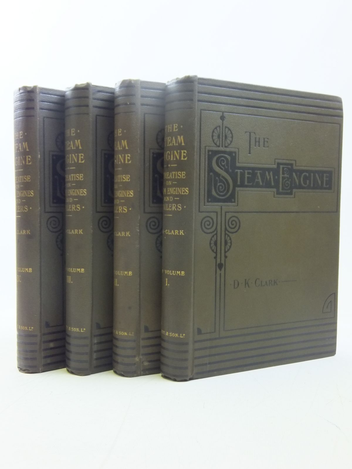 Photo of THE STEAM ENGINE (4 VOLUMES) written by Clark, Daniel Kinnear published by Blackie & Son Ltd. (STOCK CODE: 1607593)  for sale by Stella & Rose's Books