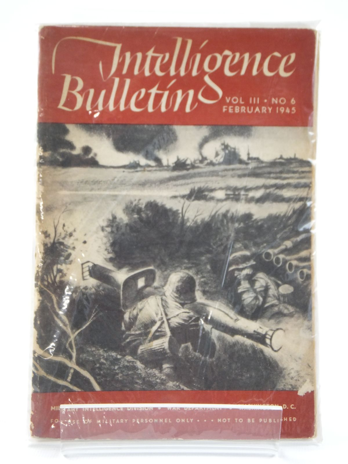 Photo of INTELLIGENCE BULLETIN VOL. III No. 6 FEBRUARY1945 published by Military Intelligence Division (STOCK CODE: 1608403)  for sale by Stella & Rose's Books