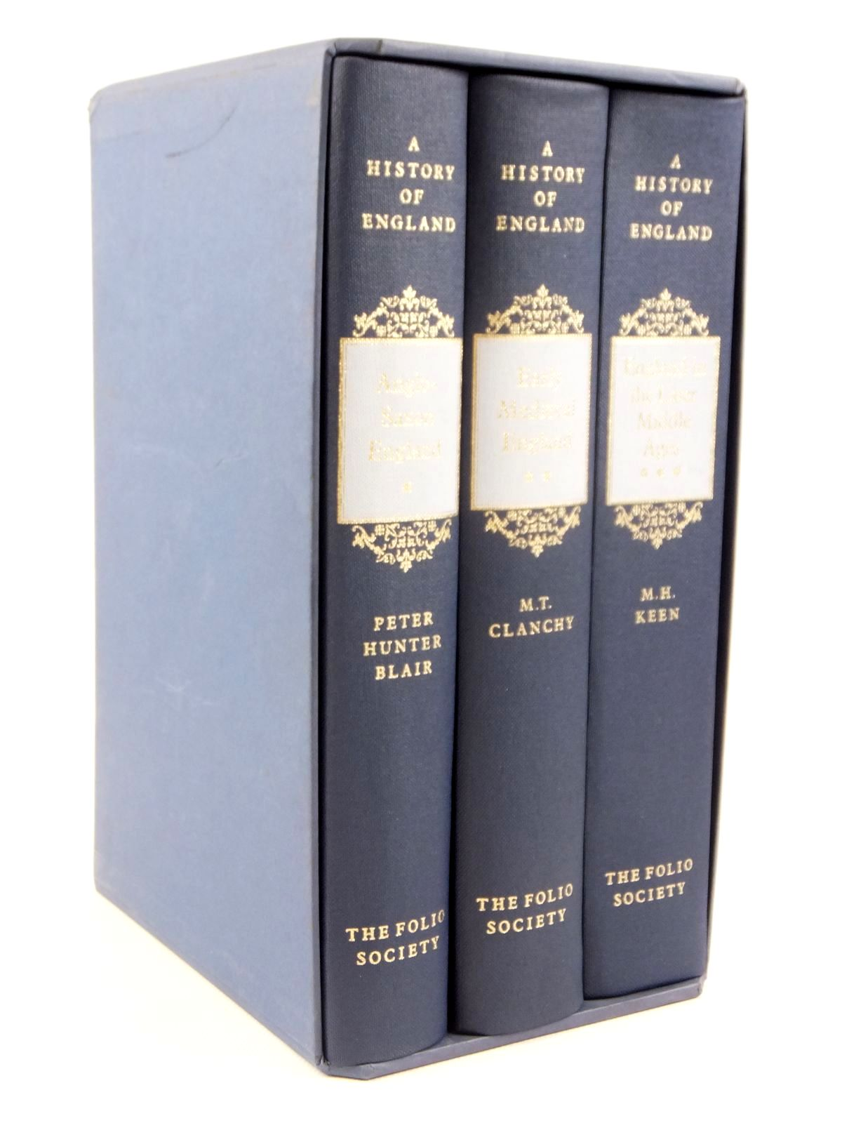 Photo of A HISTORY OF ENGLAND (3 VOLUMES) written by Blair, Peter Hunter<br />Clanchy, M.T.<br />Keen, M.H. published by Folio Society (STOCK CODE: 1608454)  for sale by Stella & Rose's Books
