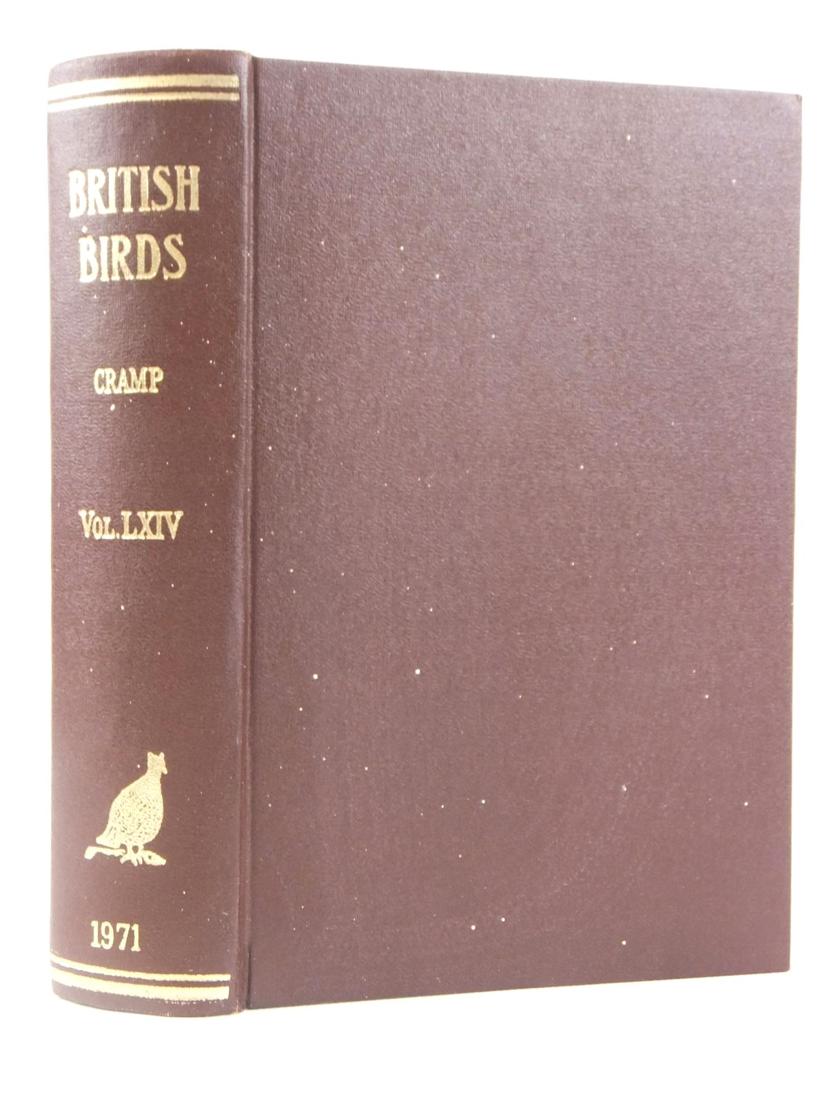 Photo of BRITISH BIRDS VOL. LXIV written by Cramp, Stanley published by H.F. & G. Witherby Ltd. (STOCK CODE: 1608529)  for sale by Stella & Rose's Books