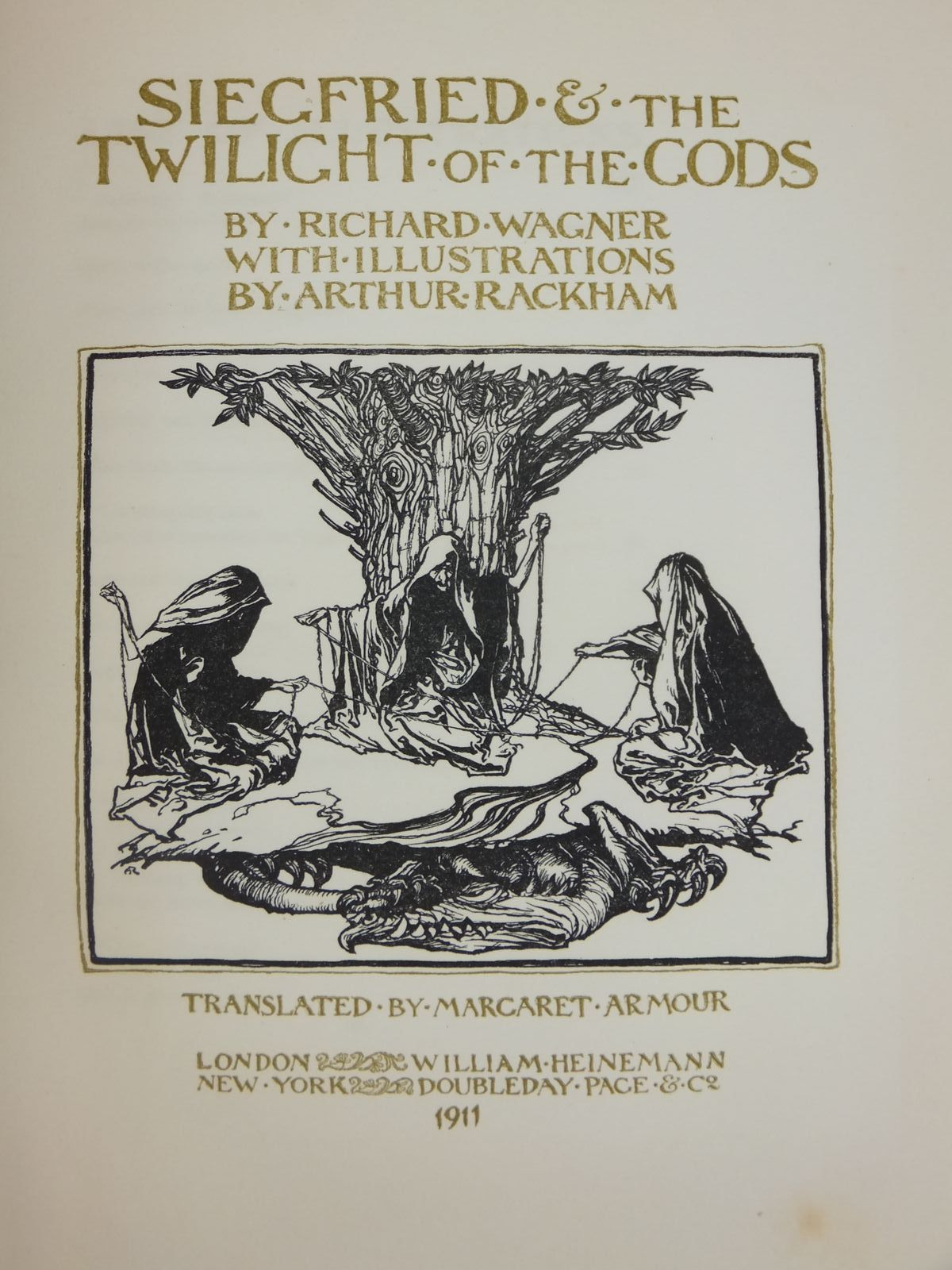 Photo of SIEGFRIED & THE TWILIGHT OF THE GODS written by Wagner, Richard illustrated by Rackham, Arthur published by William Heinemann (STOCK CODE: 1608645)  for sale by Stella & Rose's Books