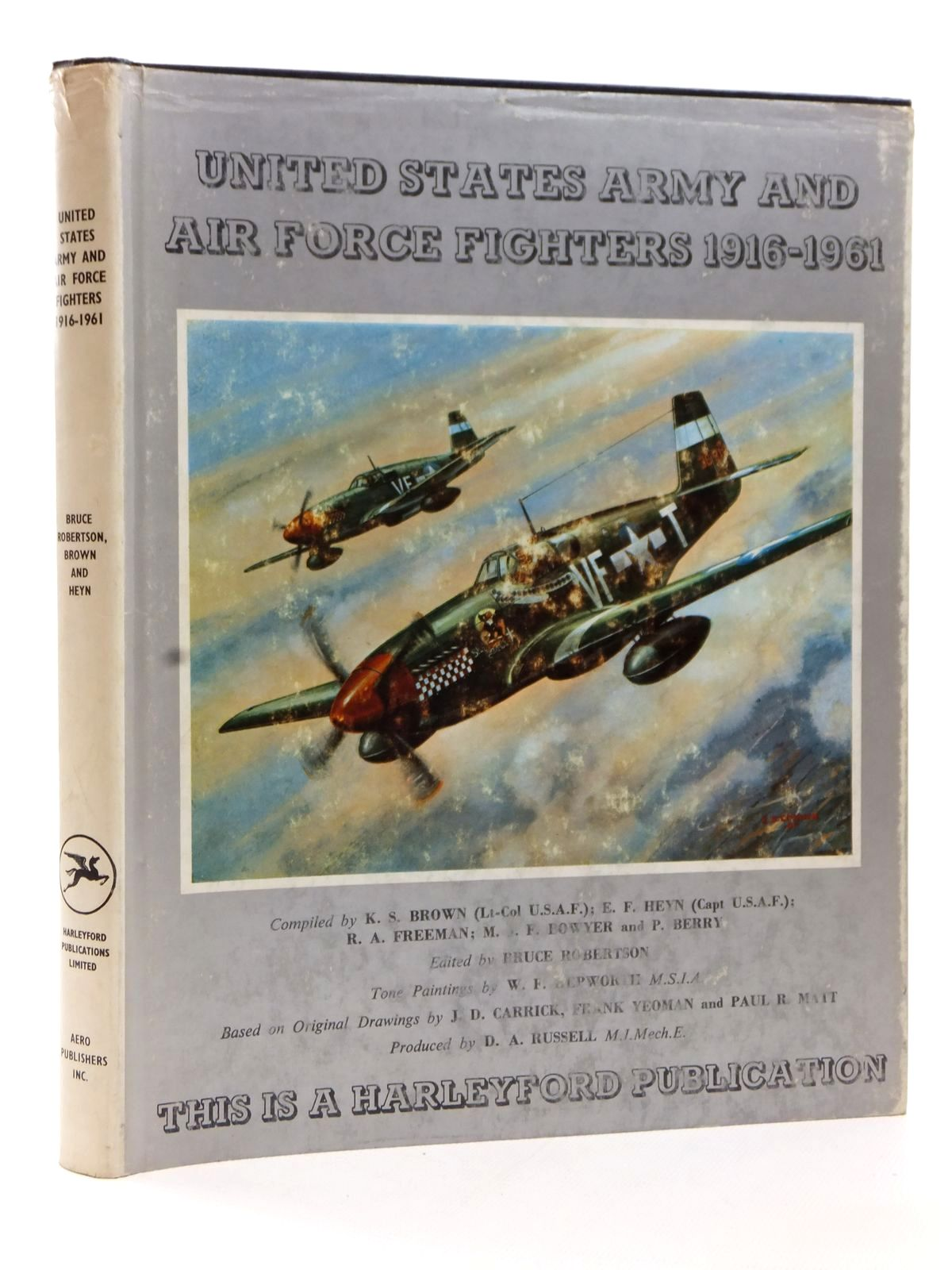 Photo of UNITED STATES ARMY AND AIR FORCE FIGHTERS 1916-1961 written by Brown, Kimbrough S.<br />Heyn, E.F.<br />Freeman, Roger A.<br />Bowyer, Michael J.F.<br />Berry, Peter illustrated by Hepworth, W.F. published by Harleyford Publications Limited (STOCK CODE: 1608947)  for sale by Stella & Rose's Books