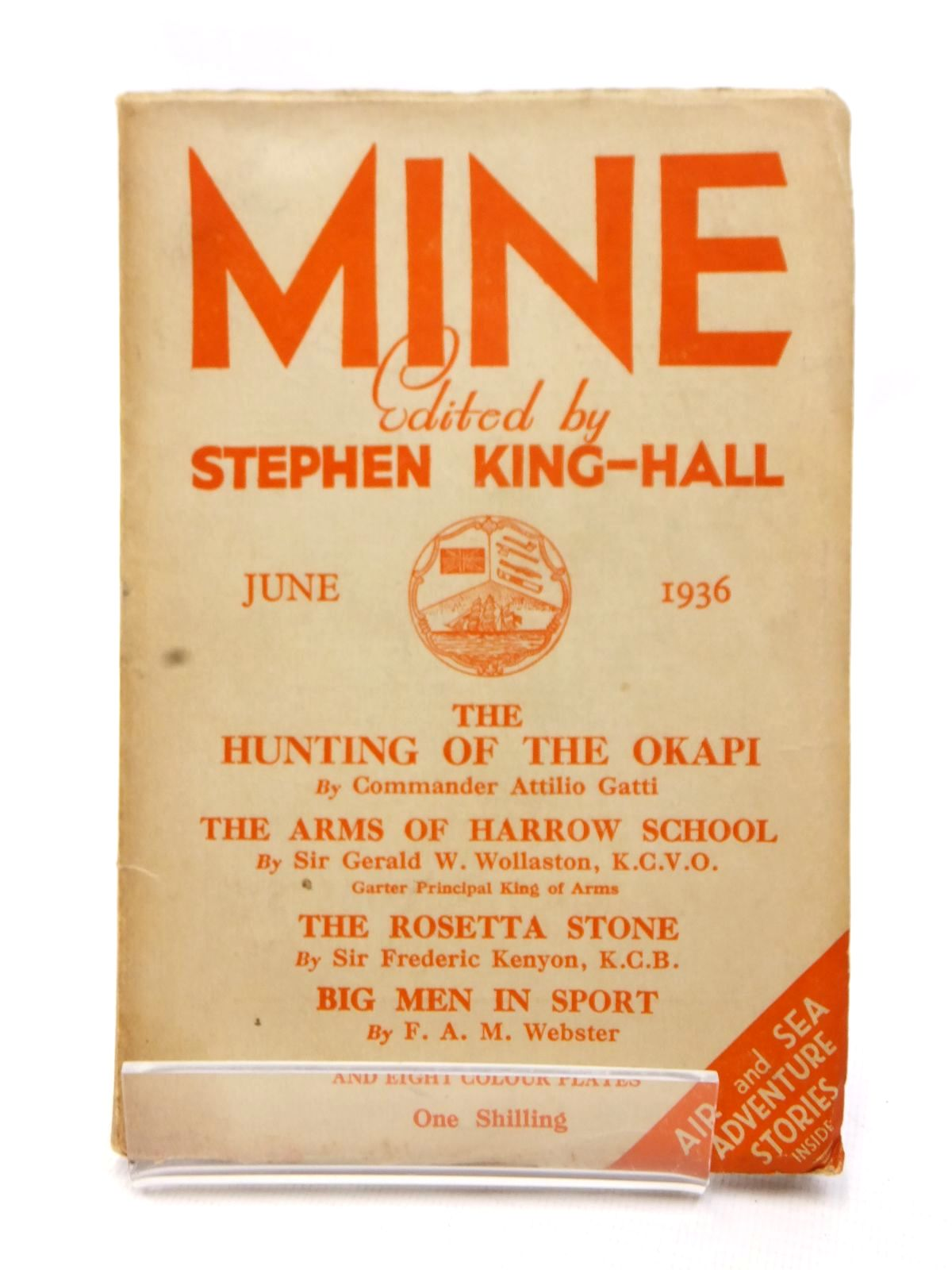 Photo of MINE JUNE 1936 written by King-Hall, Stephen published by Hazell Watson & Viney Ltd. (STOCK CODE: 1609230)  for sale by Stella & Rose's Books
