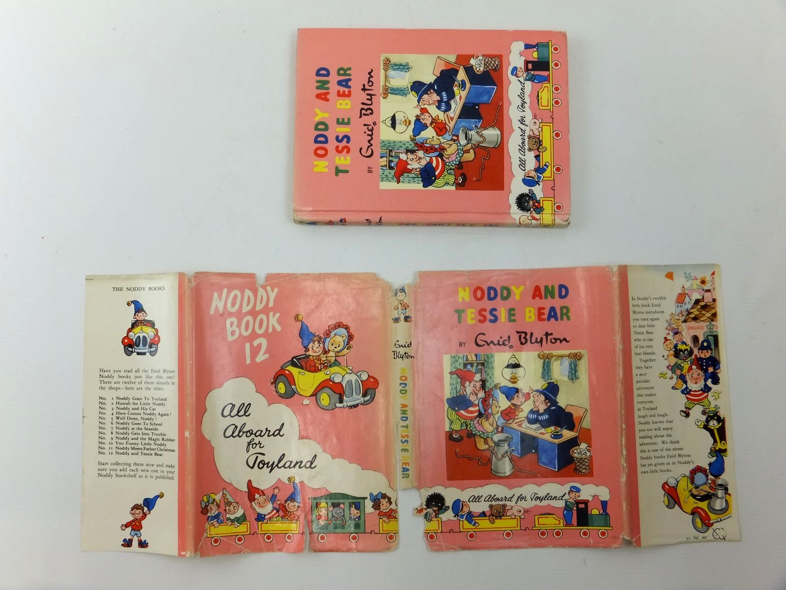 Photo of NODDY AND TESSIE BEAR written by Blyton, Enid illustrated by Lee, Robert published by Sampson Low, Marston & Co. Ltd., Dennis Dobson Ltd. (STOCK CODE: 1609606)  for sale by Stella & Rose's Books
