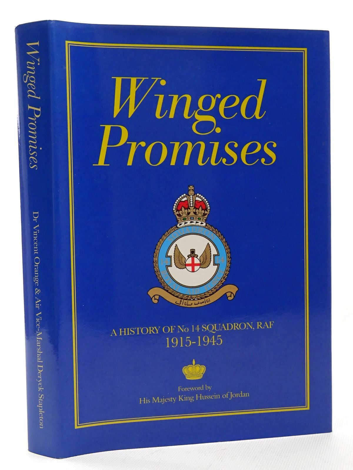 Photo of WINGED PROMISES A HISTORY OF No. 14 SQUADRON RAF 1915-1945 written by Orange, Vincent<br />Deramore, Lord published by Royal Air Force Benevolent Fund Enterprises (STOCK CODE: 1610207)  for sale by Stella & Rose's Books