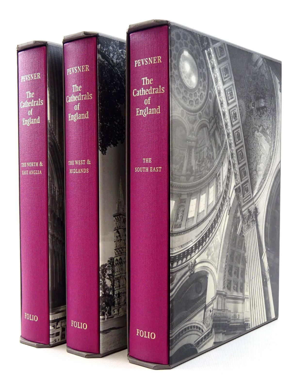 Photo of THE CATHEDRALS OF ENGLAND 3 VOLUMES written by Pevsner, Nikolaus<br />Metcalf, Priscilla published by Folio Society (STOCK CODE: 1610240)  for sale by Stella & Rose's Books