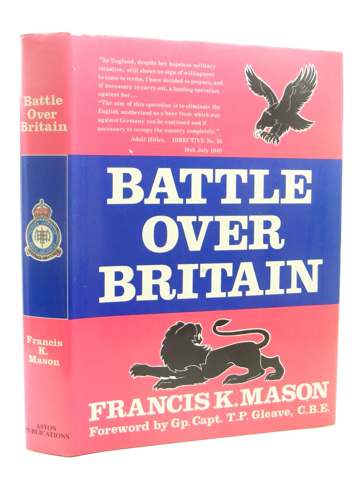 Photo of BATTLE OVER BRITAIN written by Mason, Francis K. illustrated by Roffe, Michael published by Aston Publications (STOCK CODE: 1610298)  for sale by Stella & Rose's Books