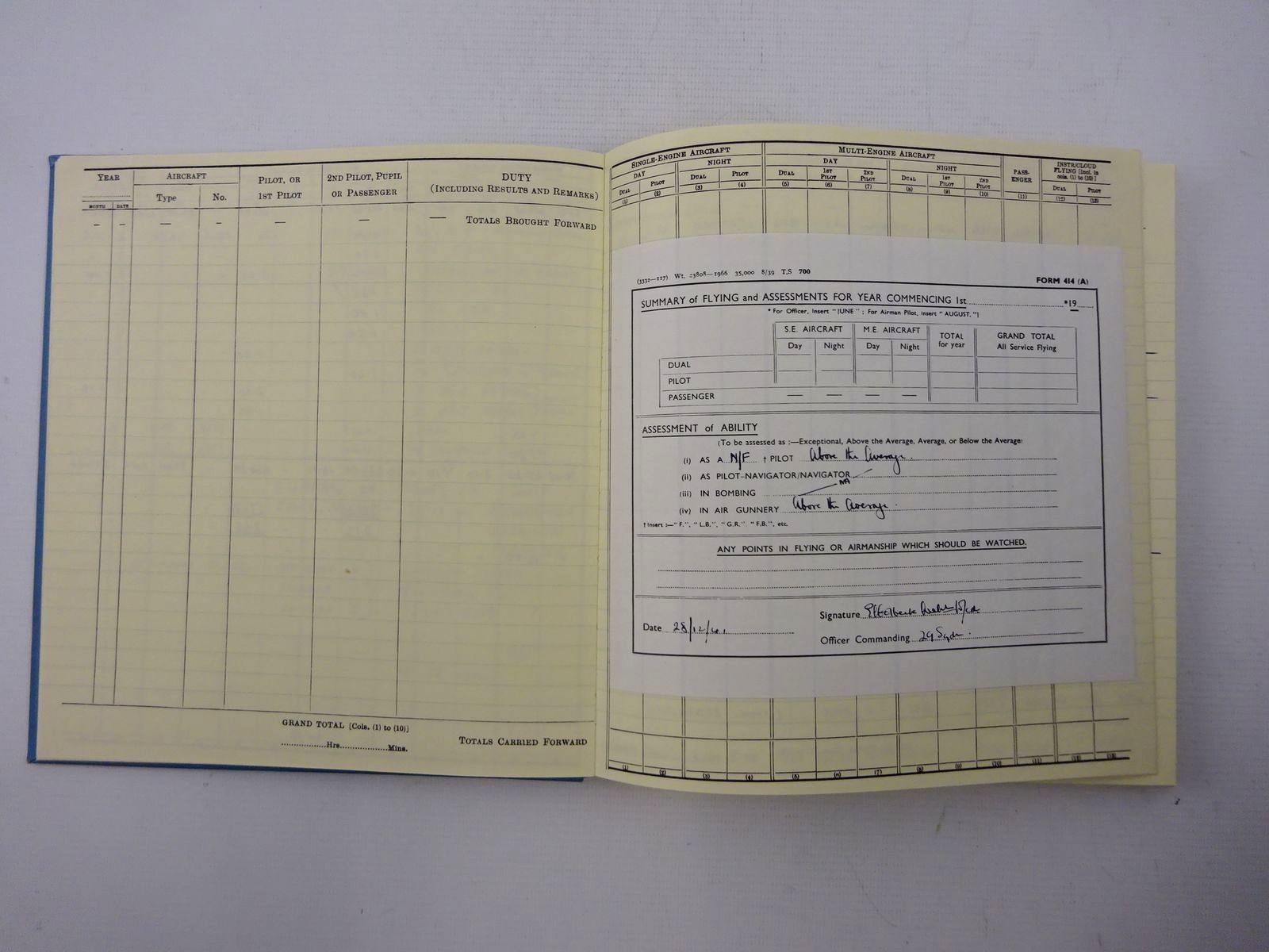 Photo of PILOT'S FLYING LOG BOOK NO. 2 written by Gibson, Wing-Cmdr G.P. Dfc published by After The Battle (STOCK CODE: 1610645)  for sale by Stella & Rose's Books