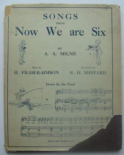 Photo of SONGS FROM NOW WE ARE SIX written by Milne, A.A.<br />Fraser-Simson, H. illustrated by Shepard, E.H. published by Methuen & Co. Ltd., Ascherberg, Hopwood & Crew Ltd. (STOCK CODE: 1702224)  for sale by Stella & Rose's Books