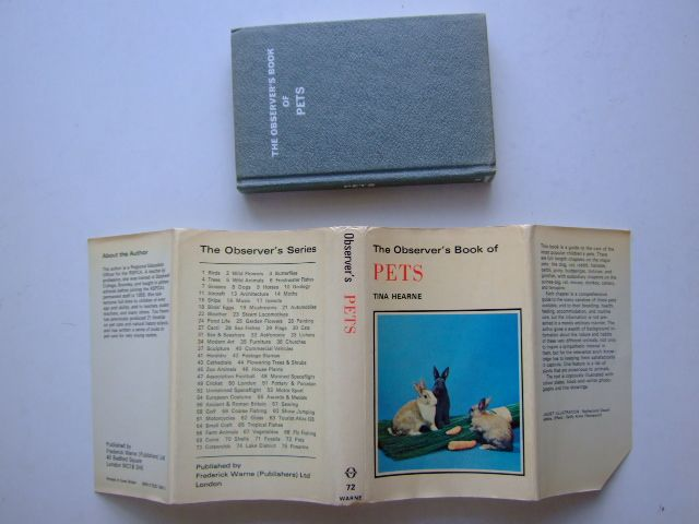 Photo of THE OBSERVER'S BOOK OF PETS written by Hearne, Tina illustrated by Bousefield, Christine<br />Davis, Reginald<br />East, Baz published by Frederick Warne & Co Ltd. (STOCK CODE: 1703829)  for sale by Stella & Rose's Books