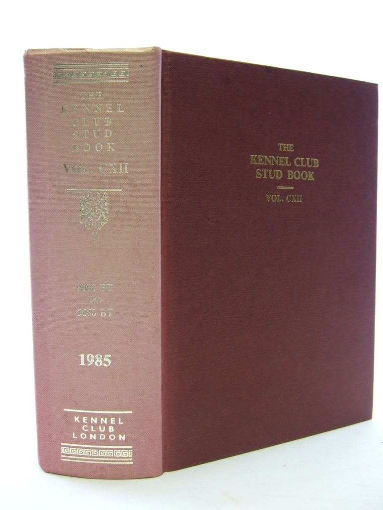 Photo of THE KENNEL CLUB STUD BOOK FOR THE YEAR 1984 VOL CXII published by The Kennel Club (STOCK CODE: 1705586)  for sale by Stella & Rose's Books
