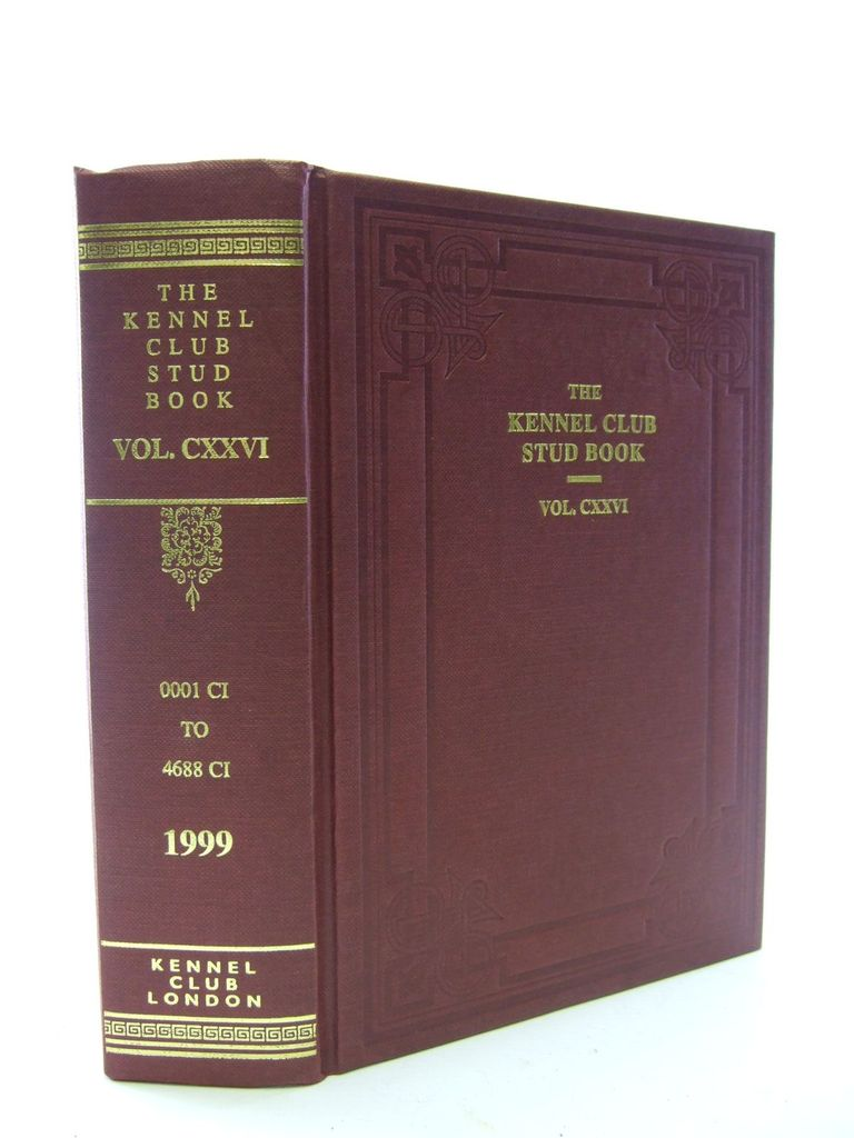 Photo of THE KENNEL CLUB STUD BOOK FOR THE YEAR 1998 VOL CXXVI published by The Kennel Club (STOCK CODE: 1705602)  for sale by Stella & Rose's Books