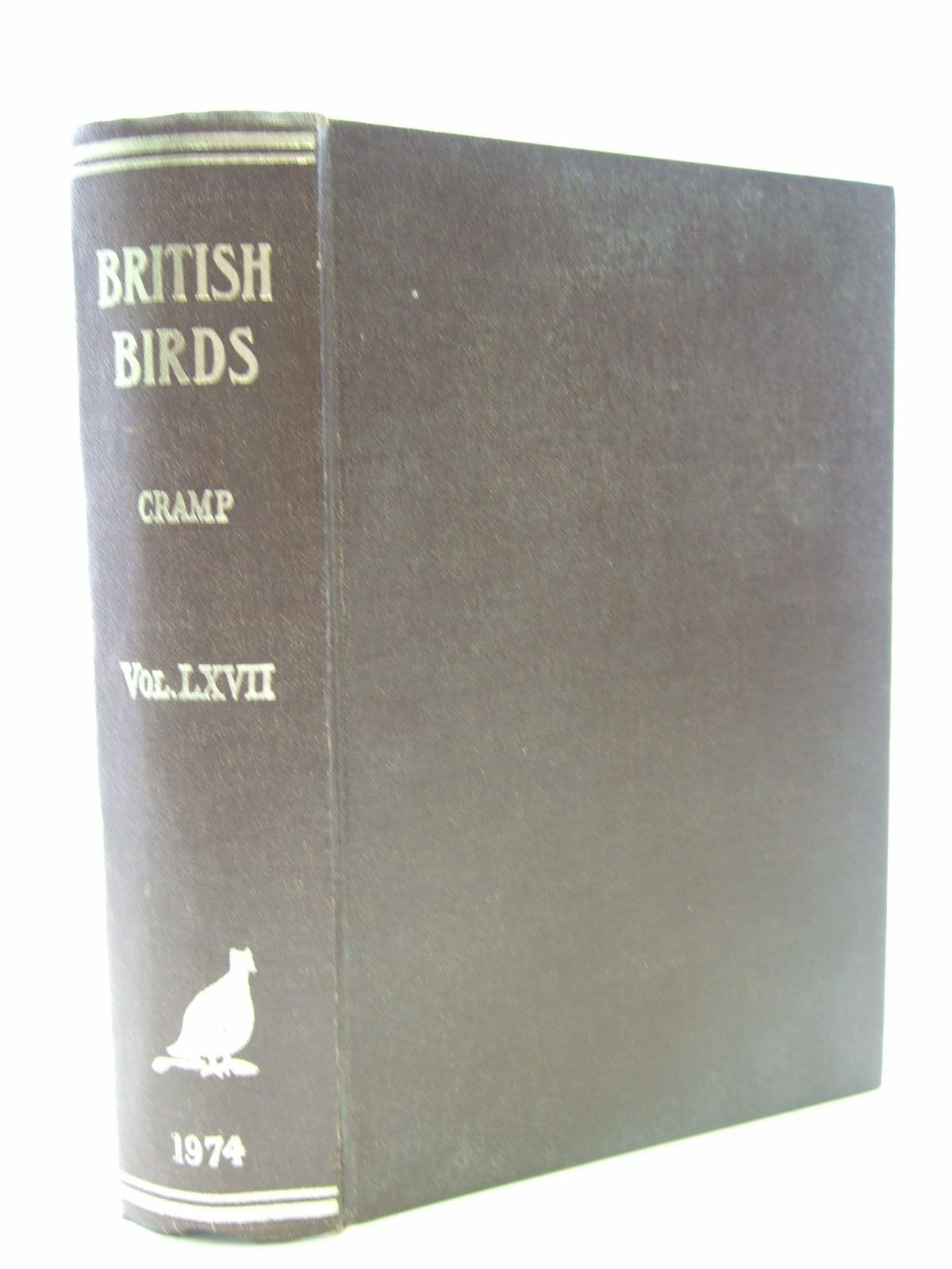 Photo of BRITISH BIRDS VOL. LXVII written by Cramp, Stanley published by H.F. & G. Witherby Ltd. (STOCK CODE: 1706169)  for sale by Stella & Rose's Books
