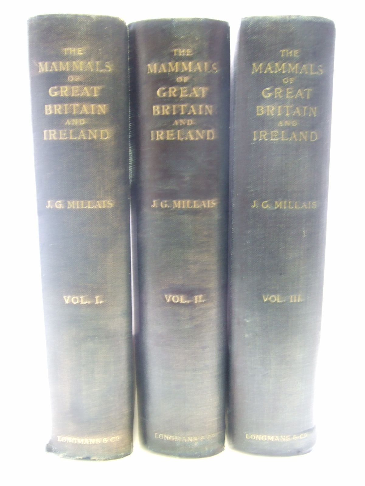 Photo of THE MAMMALS OF GREAT BRITAIN AND IRELAND written by Millais, J.G. illustrated by Millais, J.G.<br />Thorburn, Archibald<br />Lodge, G.E.<br />Gronvold, Henrik published by Longmans, Green & Co. (STOCK CODE: 1706435)  for sale by Stella & Rose's Books