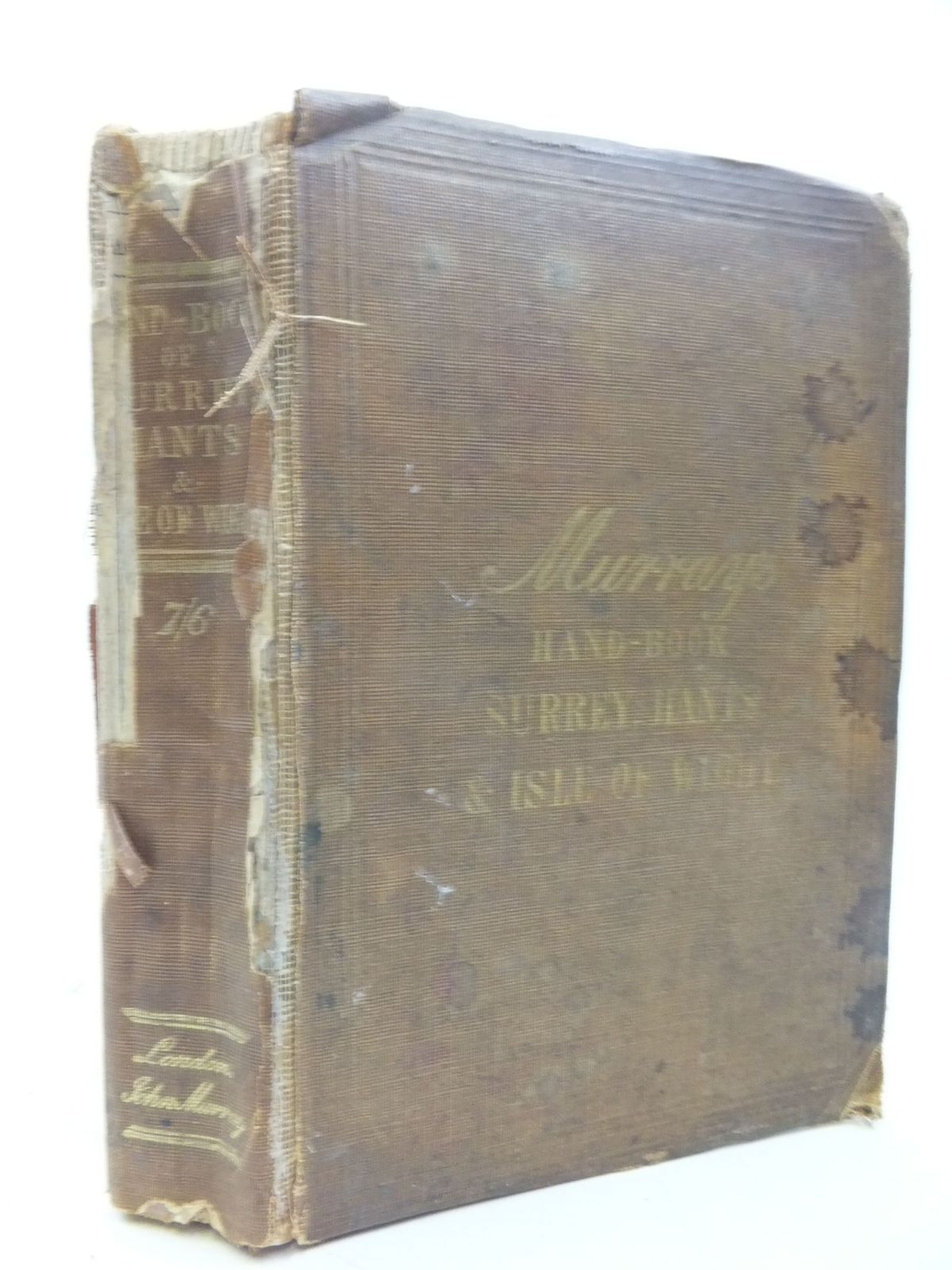 Photo of A HANDBOOK FOR TRAVELLERS IN SURREY, HAMPSHIRE AND THE ISLE OF WIGHT published by John Murray (STOCK CODE: 1709584)  for sale by Stella & Rose's Books