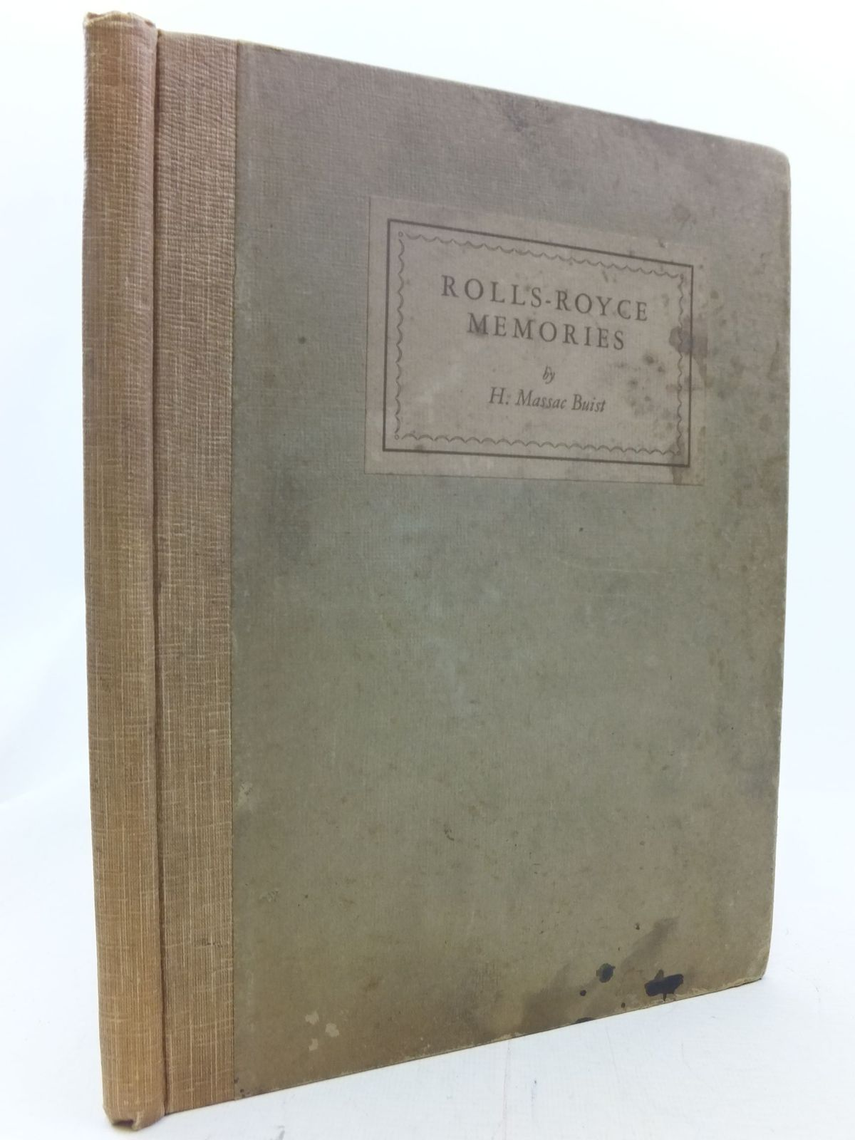 Photo of ROLLS-ROYCE MEMORIES written by Buist, H. Massac published by Cambridge University Press (STOCK CODE: 1711187)  for sale by Stella & Rose's Books