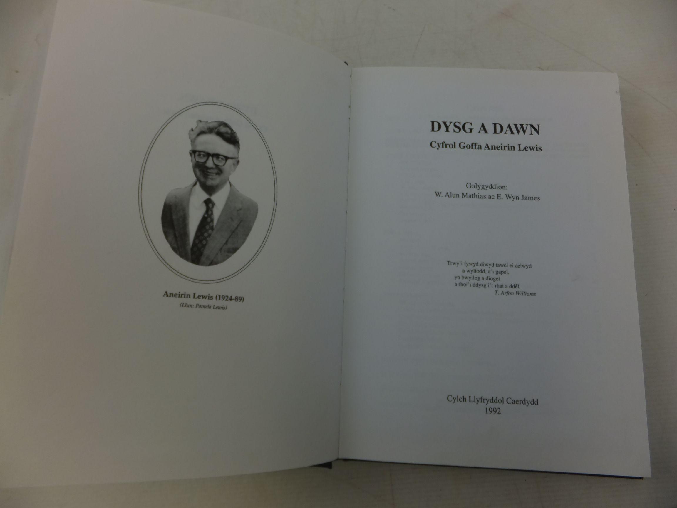 Photo of DYSG A DAWN CYFROL GOFFA ANEIRIN LEWIS written by Lewis, Aneirin<br />Mathias, W. Alun<br />James, E. Wyn published by Cylch Llyfryddol Caerdydd (STOCK CODE: 1712813)  for sale by Stella & Rose's Books