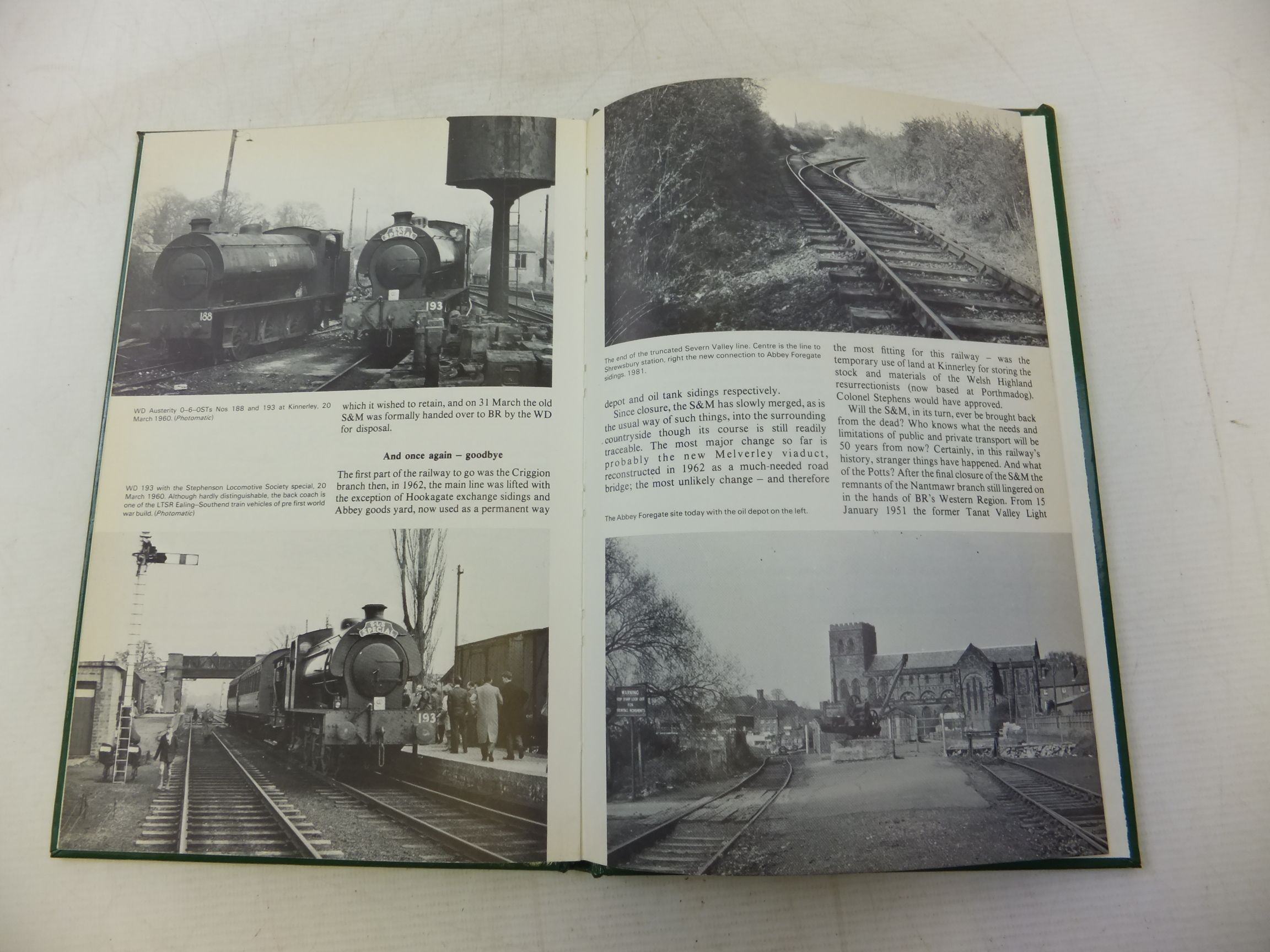 Photo of THE SHROPSHIRE & MONTGOMERYSHIRE LIGHT RAILWAY written by Turner, Keith<br />Turner, Susan published by David & Charles (STOCK CODE: 1713052)  for sale by Stella & Rose's Books