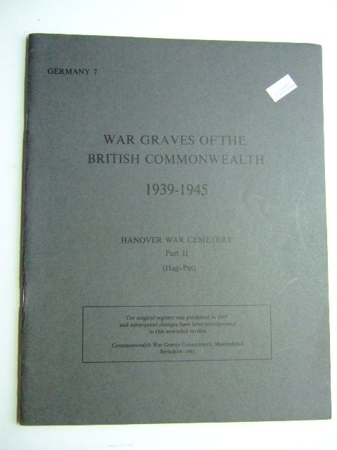 Photo of WAR GRAVES OF THE BRITISH COMMONWEALTH published by Commonwealth War Graves Commission (STOCK CODE: 1802750)  for sale by Stella & Rose's Books