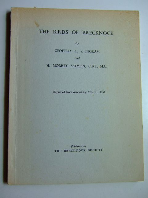 Photo of THE BIRDS OF BRECKNOCK written by Ingram, Geoffrey C.S.<br />Salmon, H. Morrey published by The Brecknock Society (STOCK CODE: 1803057)  for sale by Stella & Rose's Books