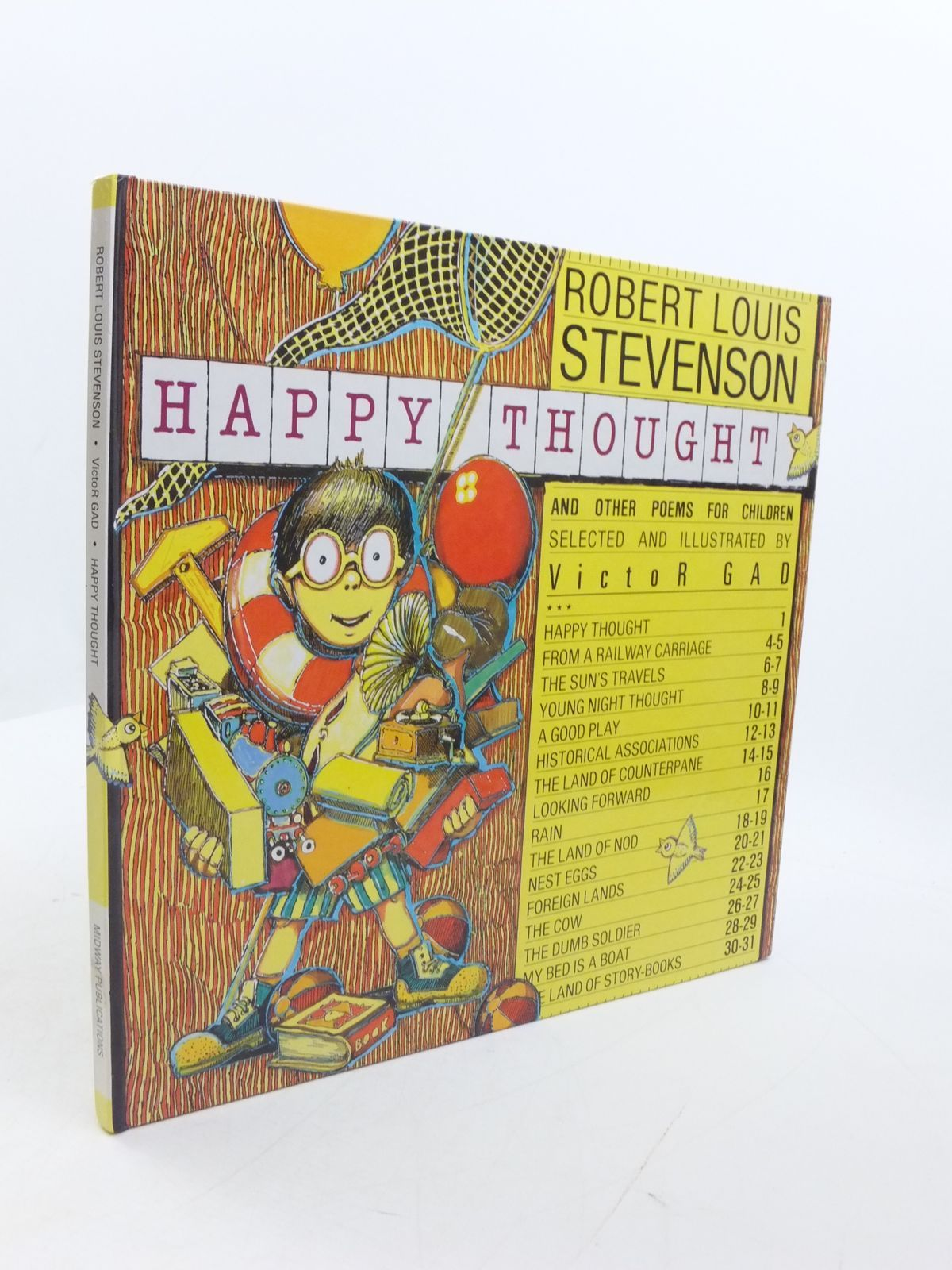 Photo of HAPPY THOUGHT AND OTHER POEMS FOR CHILDREN written by Stevenson, Robert Louis<br />Gad, Victor illustrated by Gad, Victor published by Midway (STOCK CODE: 1807453)  for sale by Stella & Rose's Books